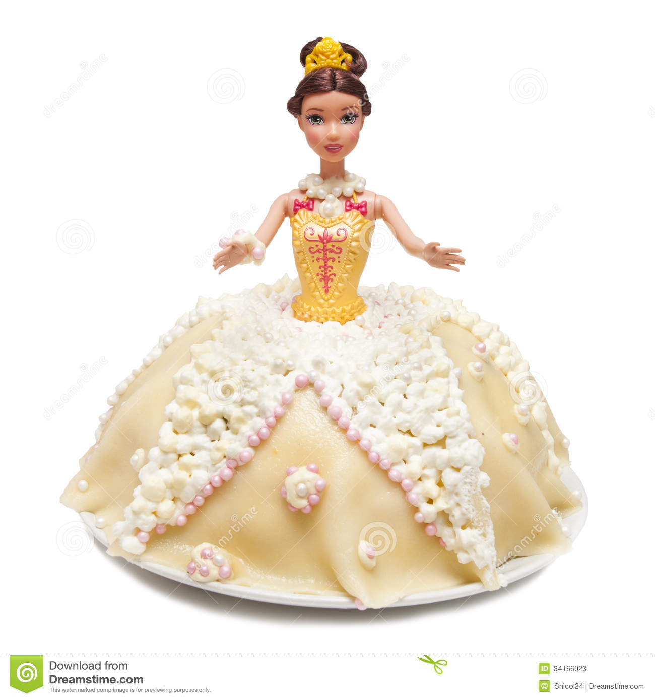 Doll Cake Images Download : Princess doll cake stock image. Image of marzipan, plate ...
