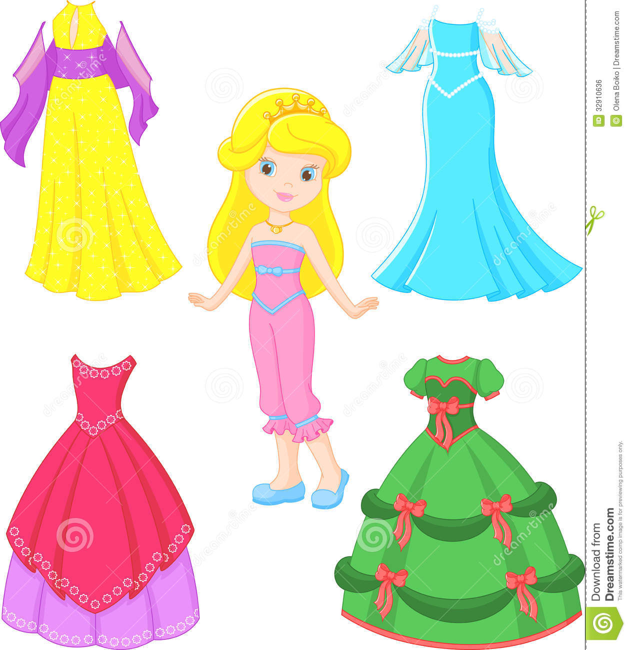 Princess Dress Royalty Free Stock Image - Image: 32910636