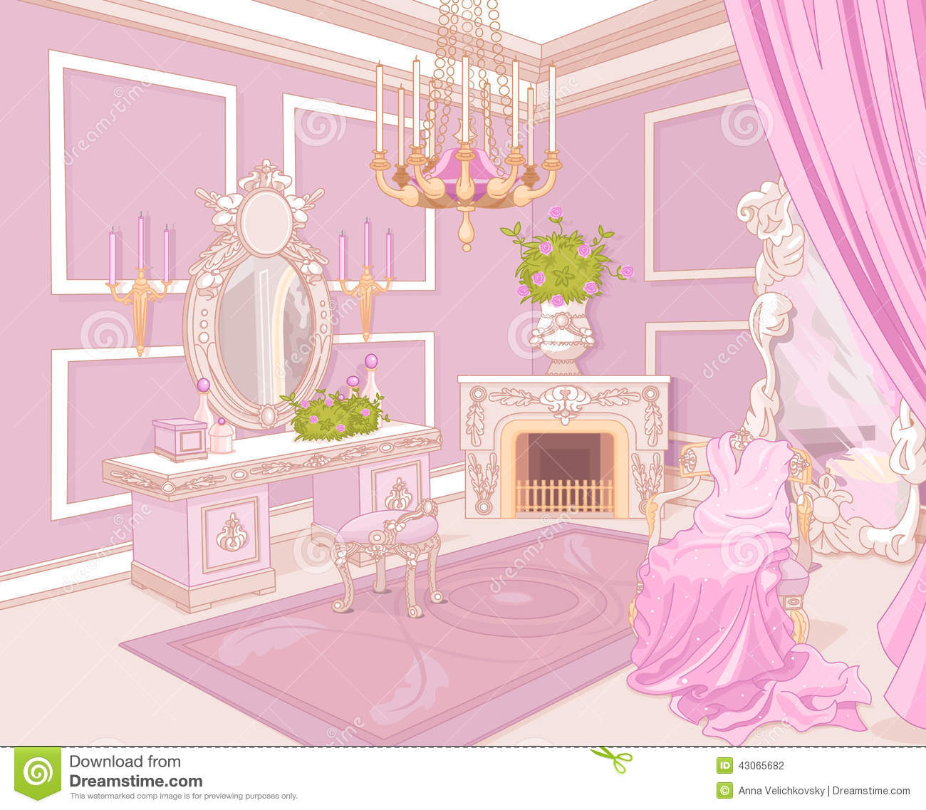 Princess Dressing Room Stock Vector Image Of Fairy Luxury 43065682
