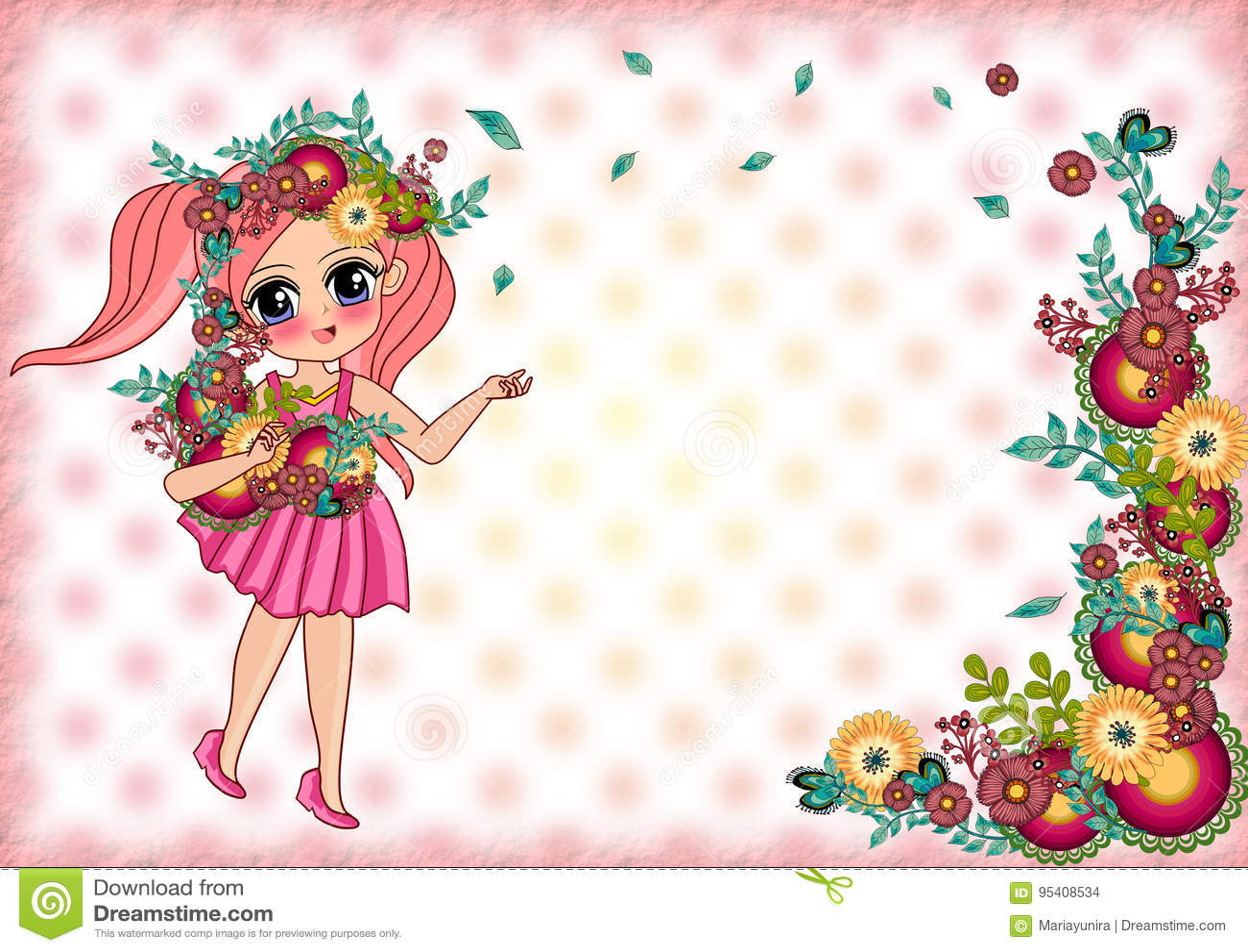 Princess frame stock illustration. Illustration of child - 95408534