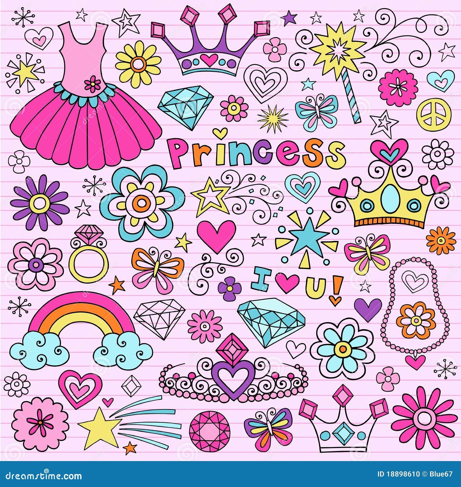Princess Groovy Notebook Doodles
