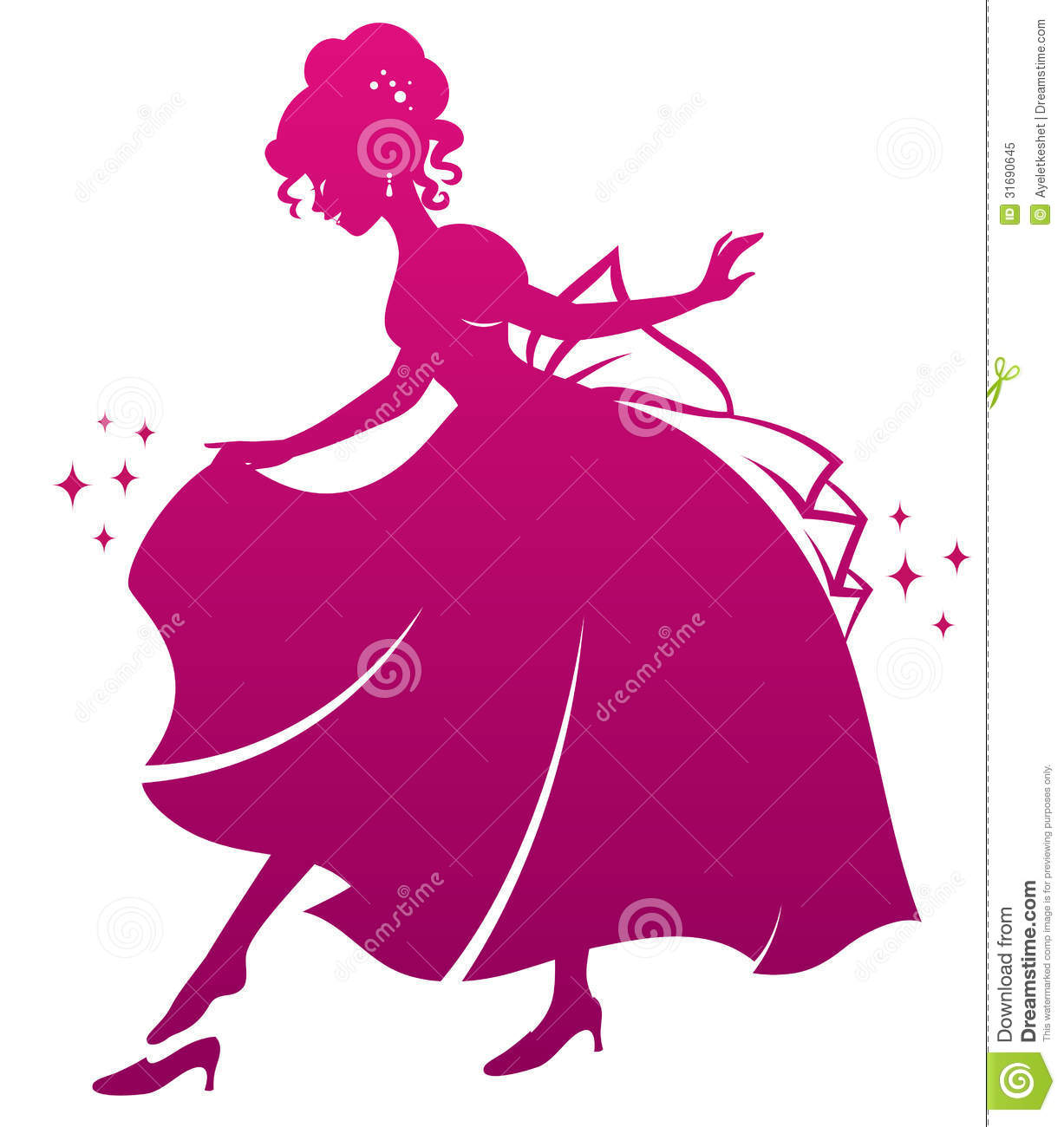 Princess And Her Shoe Royalty Free Stock Photo - Image: 31690645
