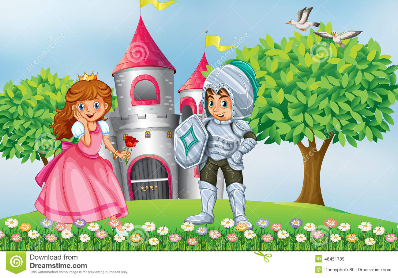 princess and knight stock illustration image 46451789