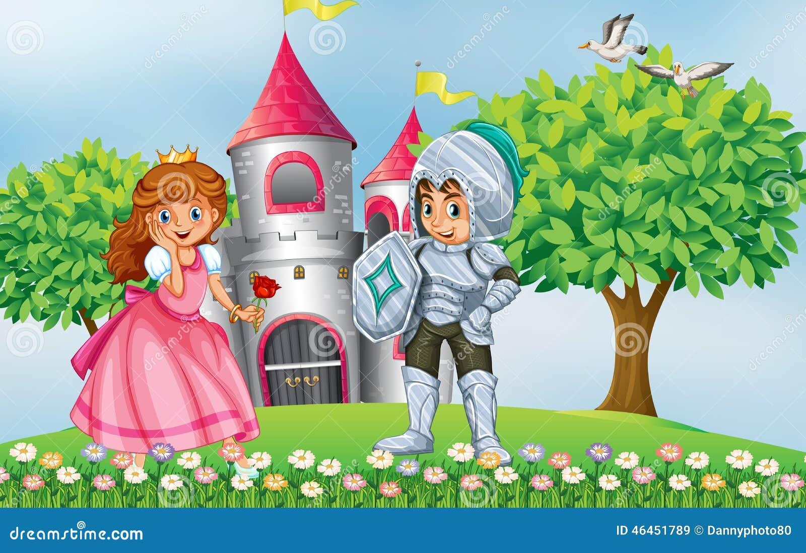 Рыцарь и принцесса рисунок карандашом