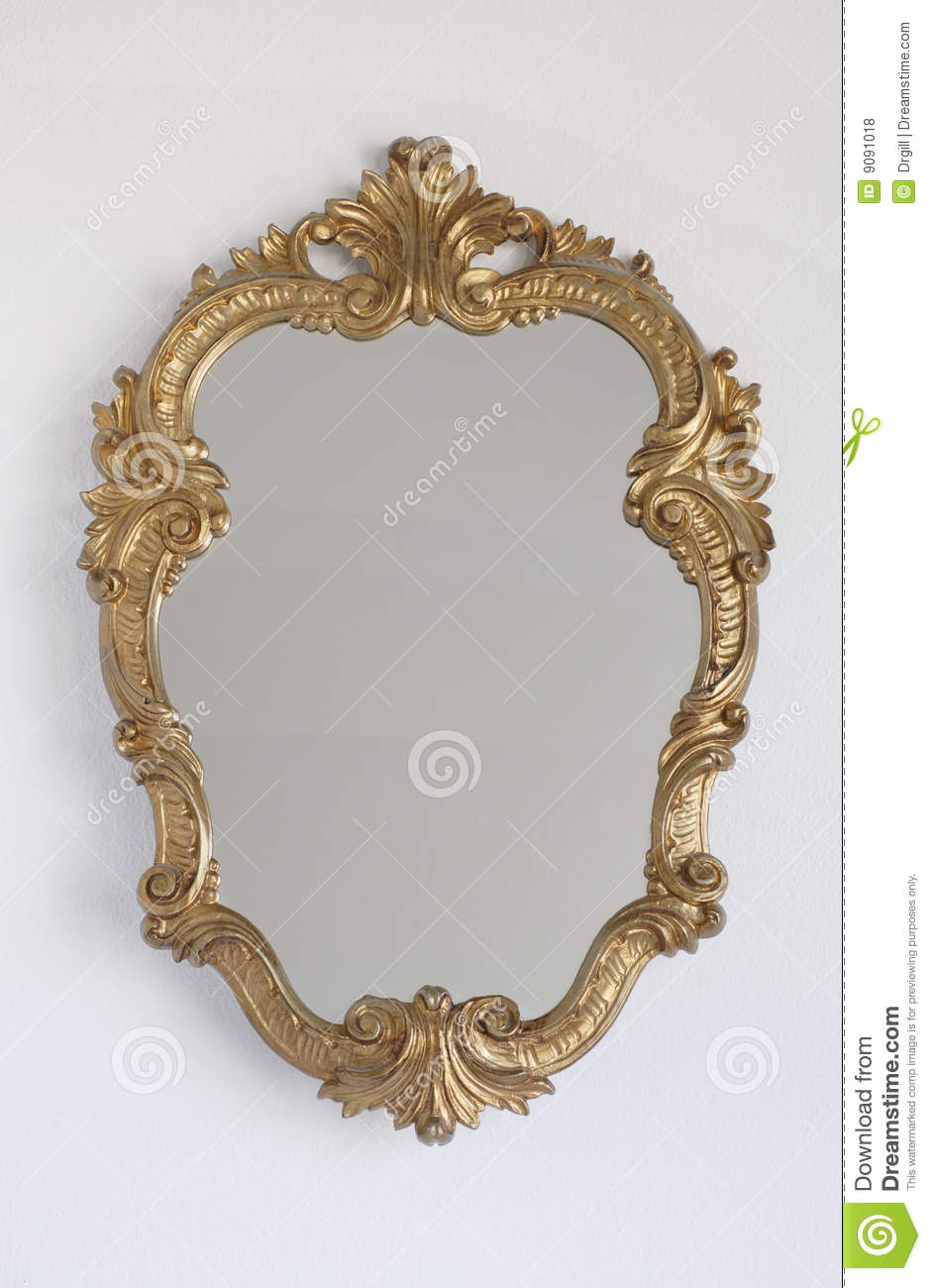 Princess Mirror On A Wall Royalty Free Stock Photos