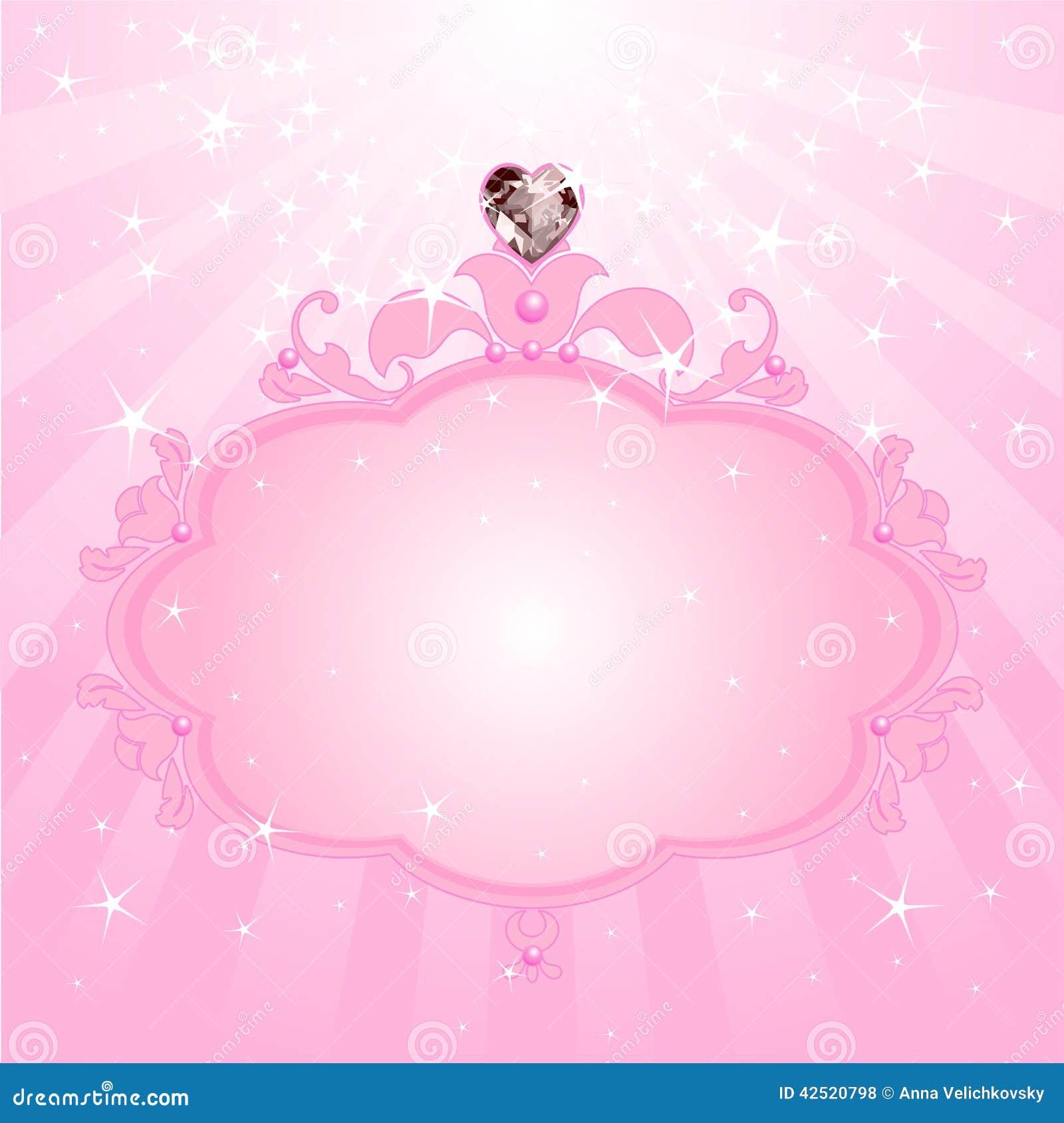 Princess pink frame stock vector. Illustration of clip - 42520798