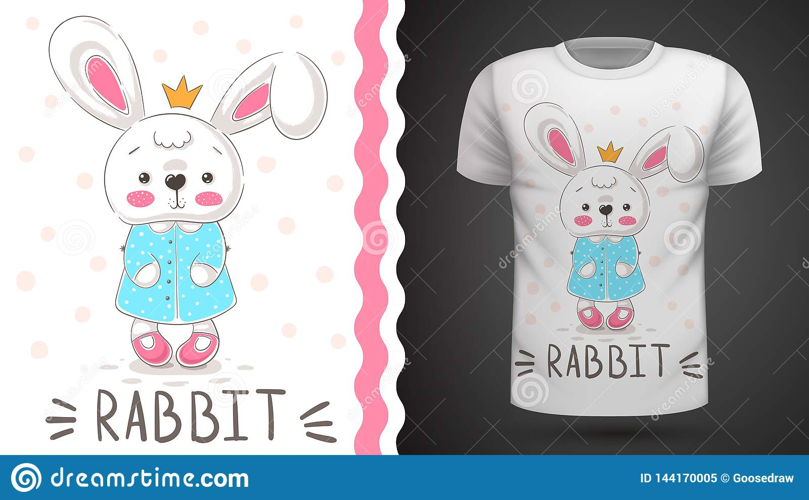 452481d86bb5d Princess Rabbit - Idea For Print T-shirt. Stock Vector ...