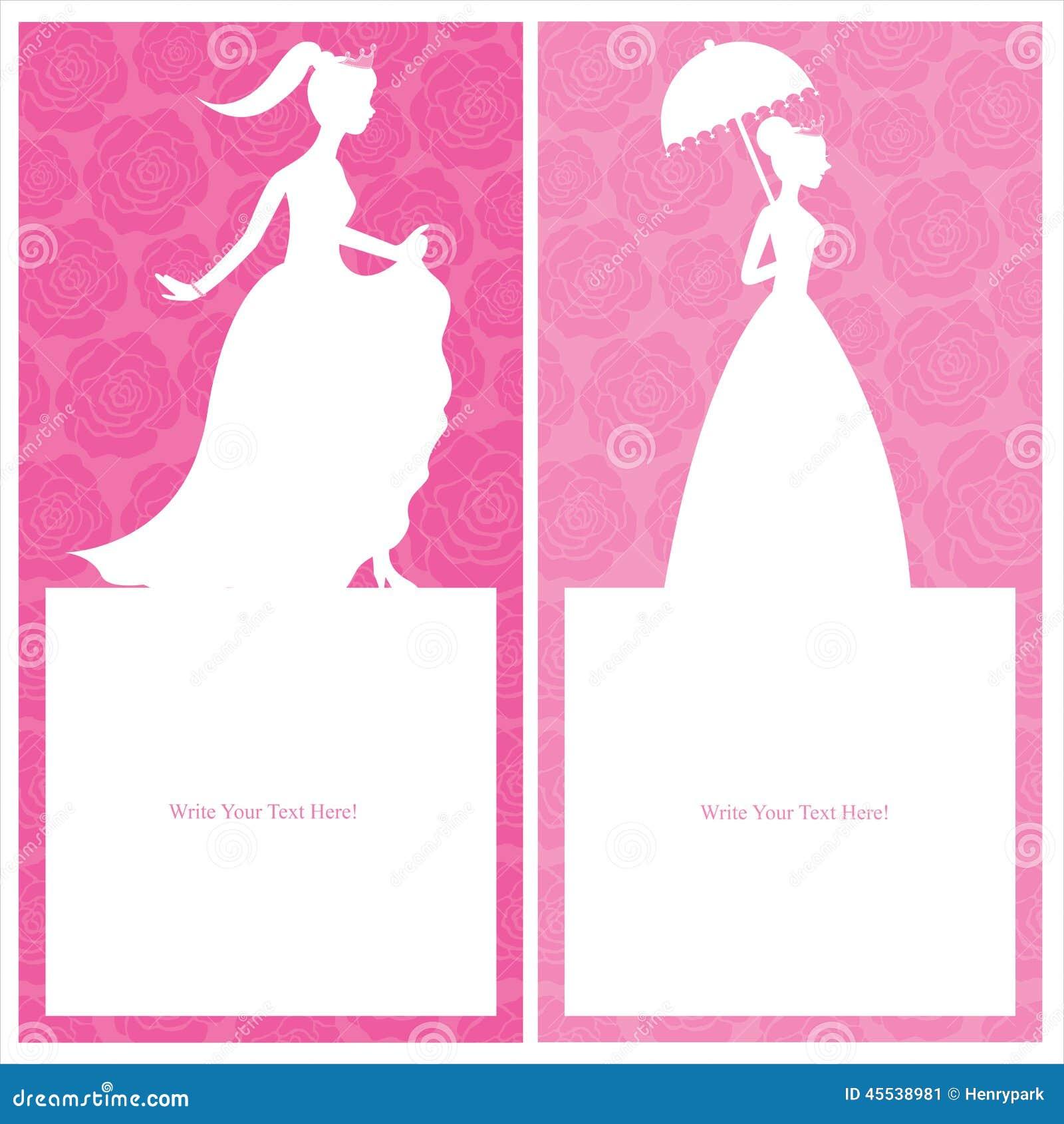 princess template card design stock vector image  princess template card design