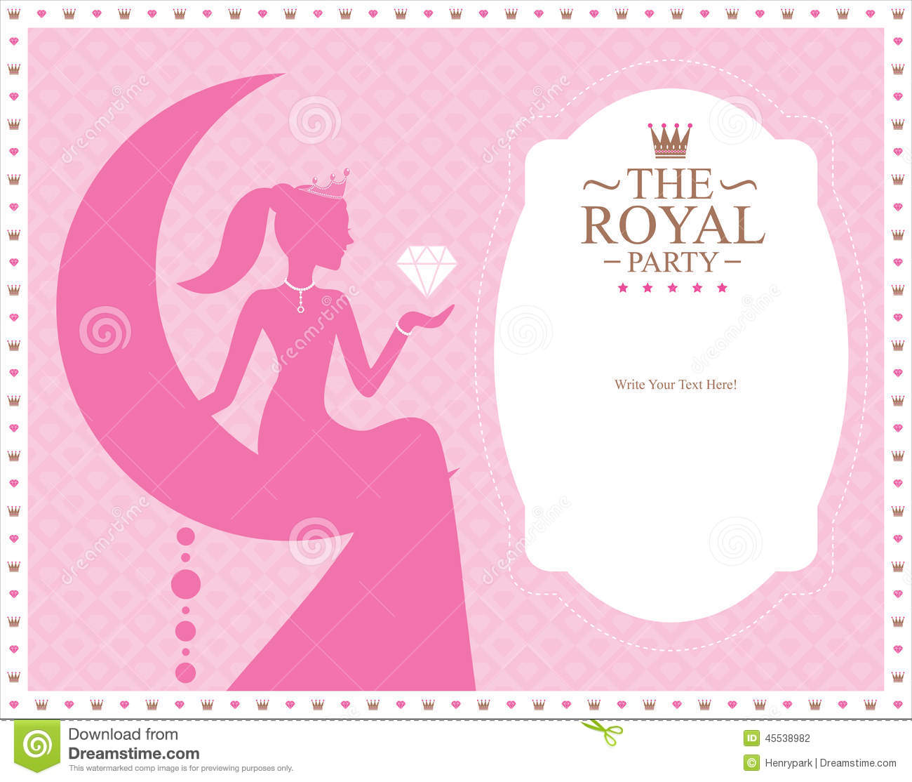 Princess Template Card Design Stock Vector Illustration Of Clipart