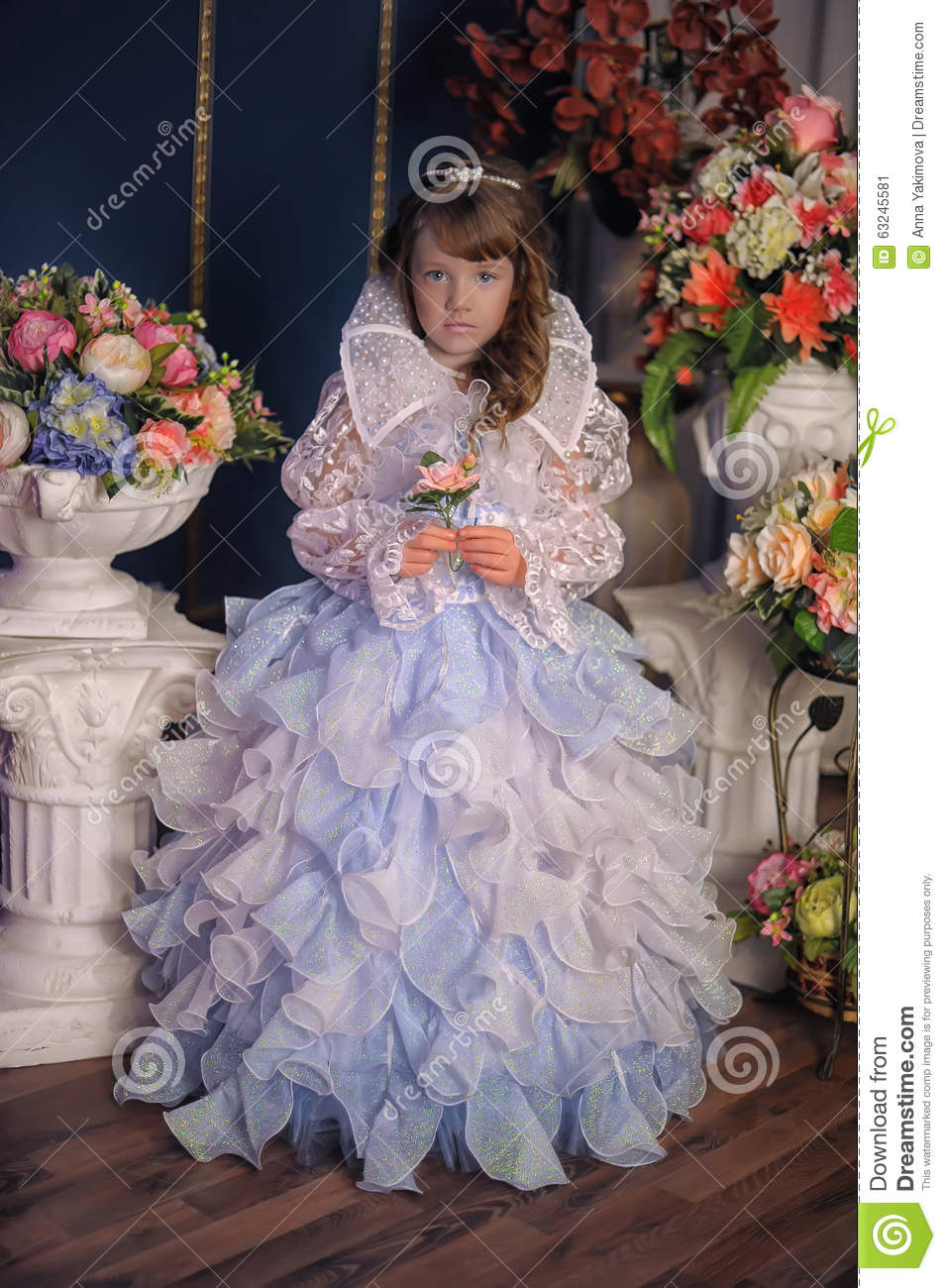 Princess in a white dress with blue stock image image of cute princess in a white dress with blue izmirmasajfo