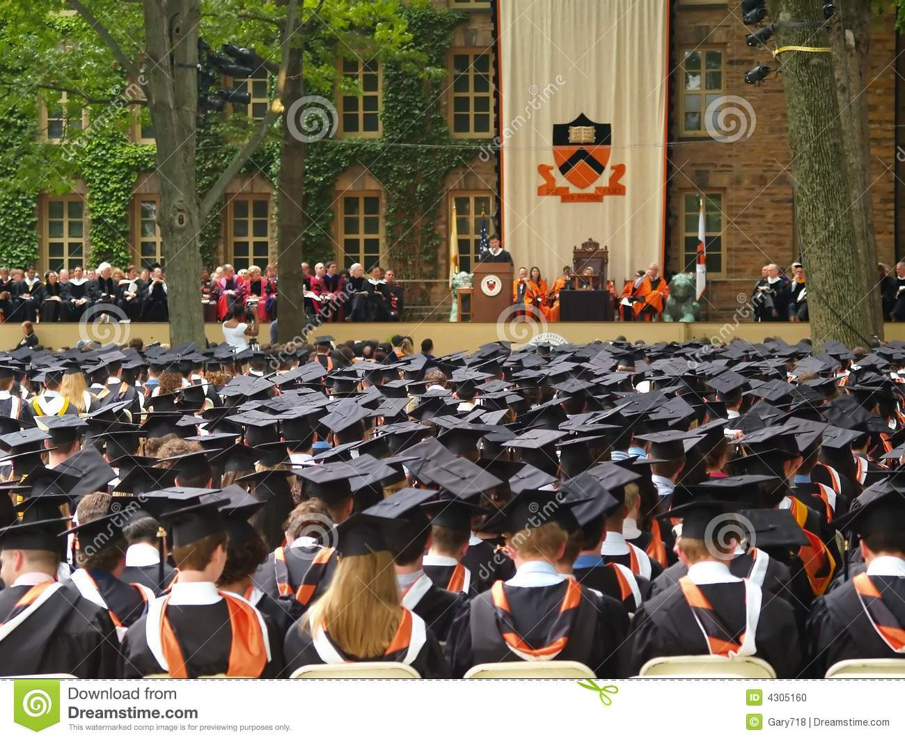 The Princeton Graduation Ceremony Editorial Image - Image of school ...
