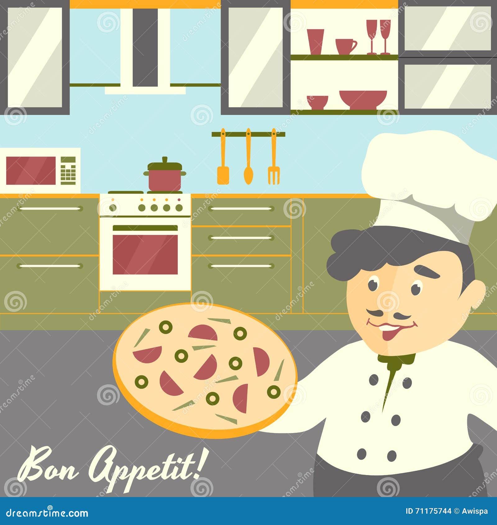 Bonito Reanudar Pizza Cocinero Foto - Ejemplo De Colección De ...