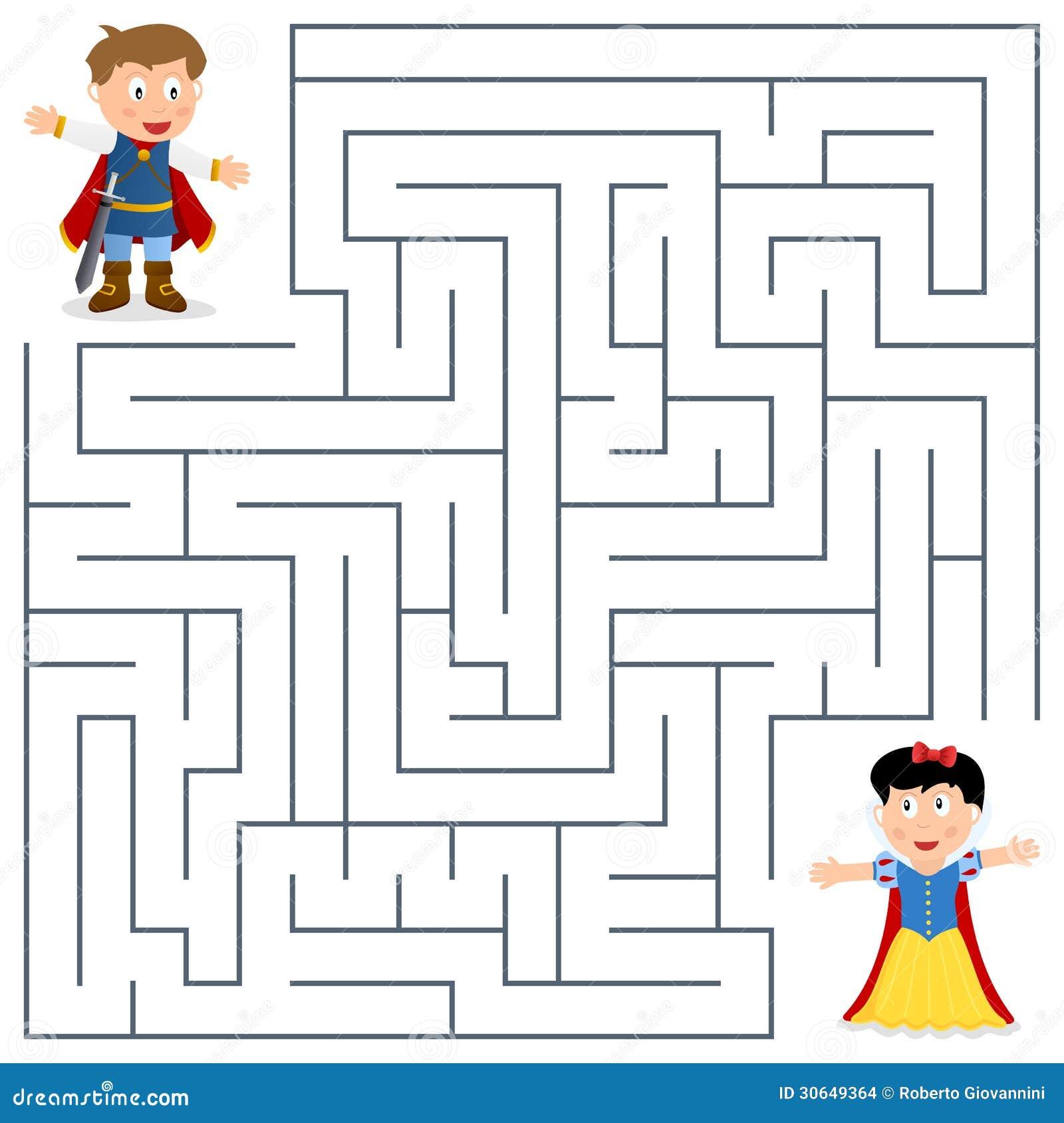 Prins & Prinses Maze voor Jonge geitjes
