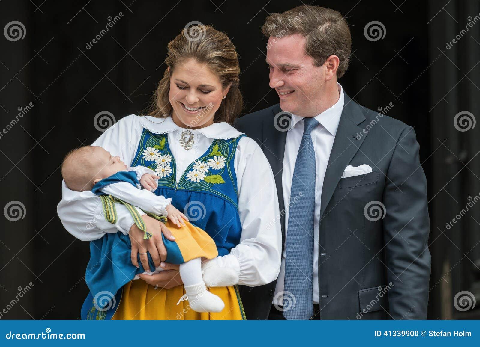 Prinses Madeleine Van Zweden Met Prinses Leonore En Chris