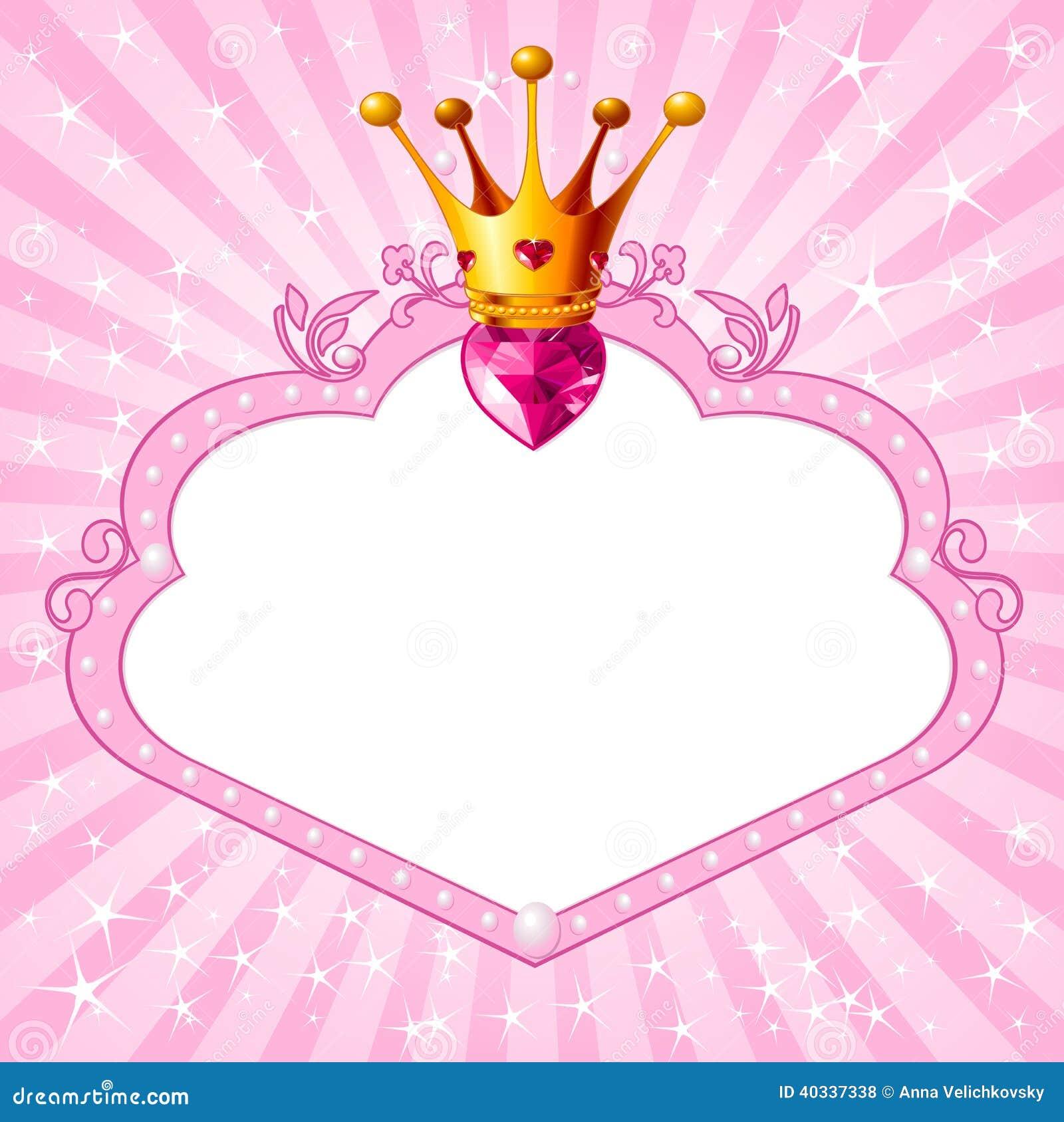 prinses roze kader vector illustratie beeld 40337338 princess crown vector free download princess crown vector free download