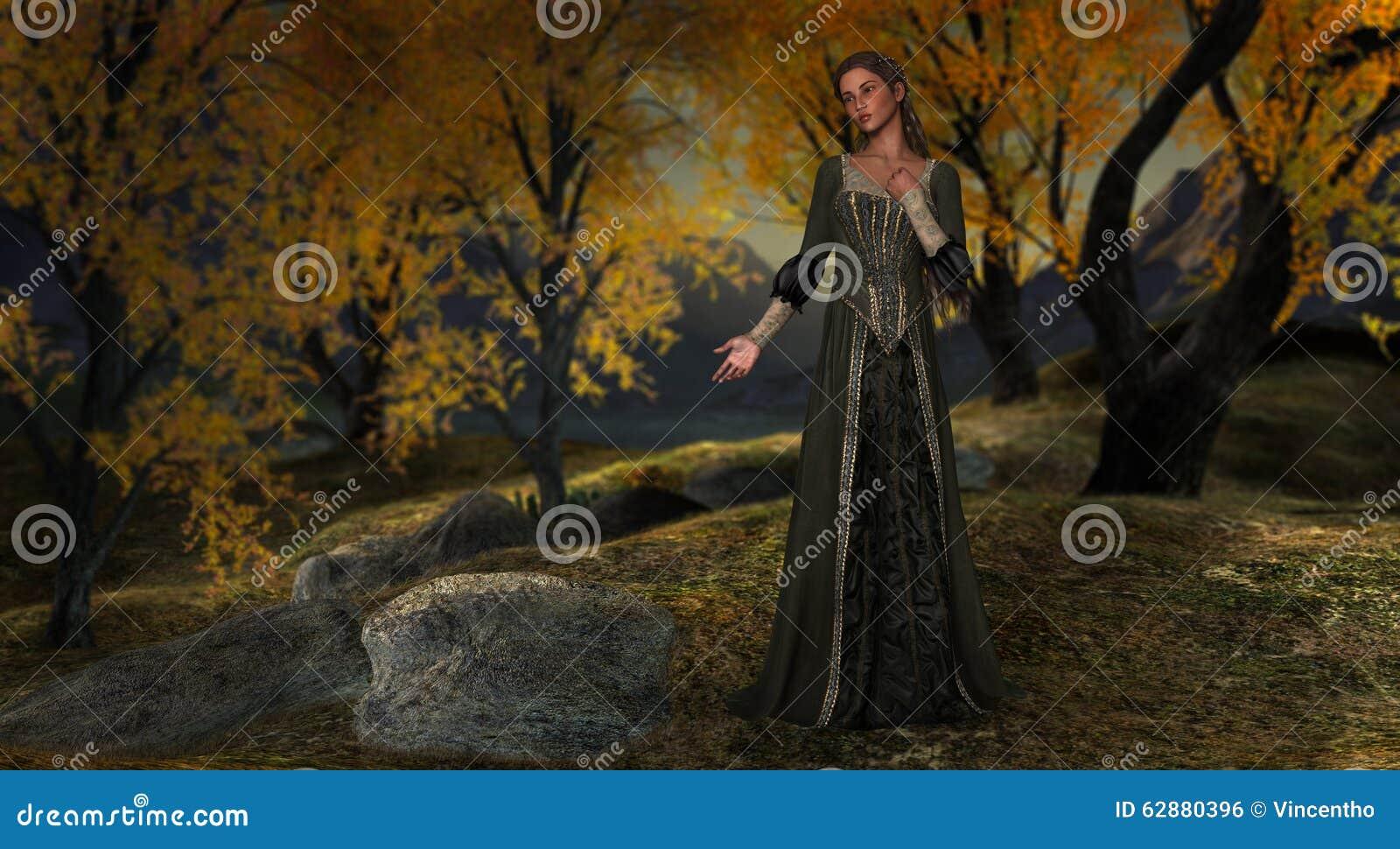 Prinsessa Hushed Peaceful Forest Illustration