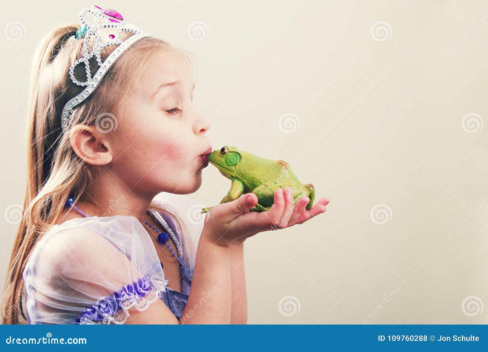 Prinsessa- och grodabegrepp