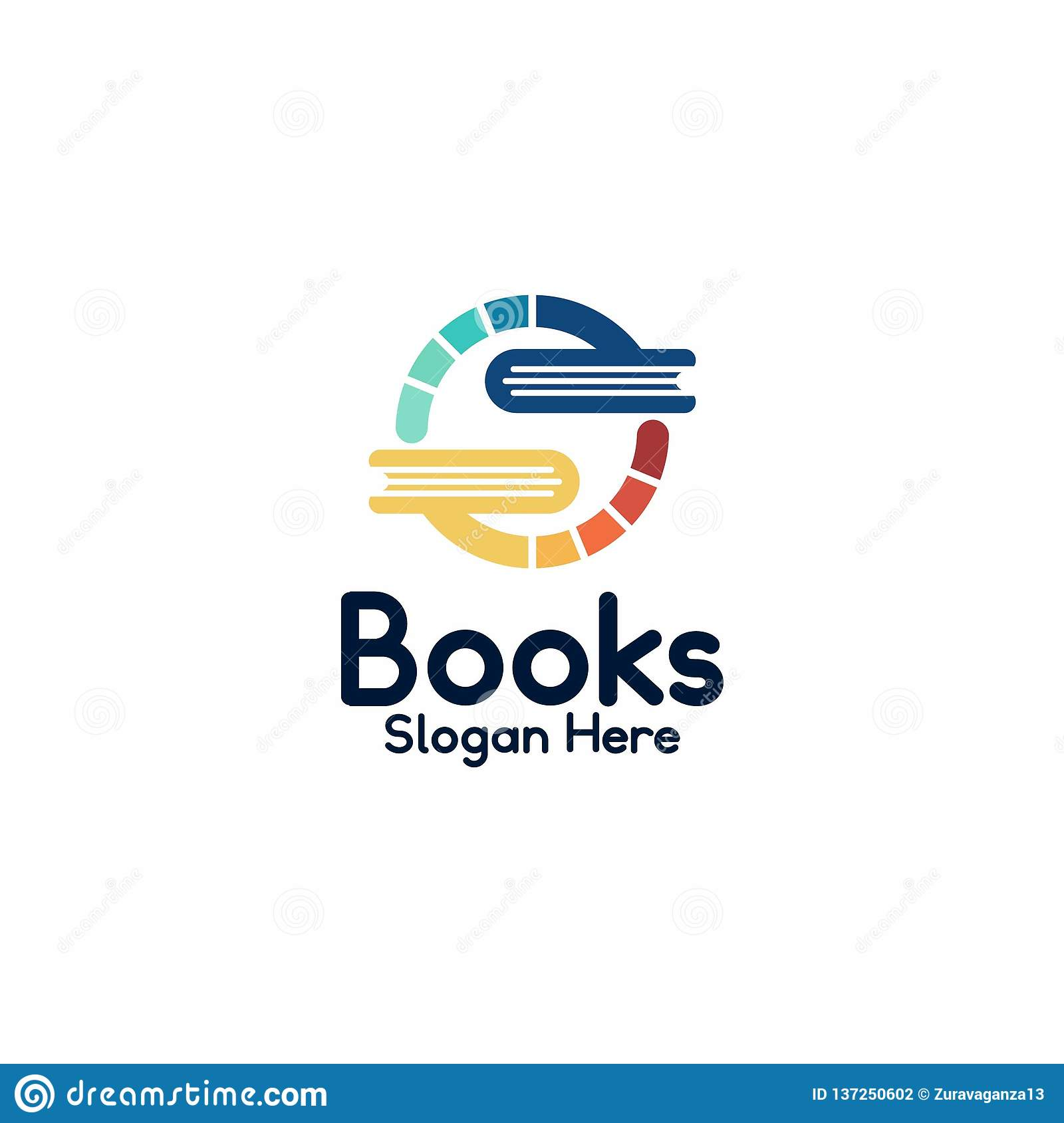 Transformation book logo template in circle