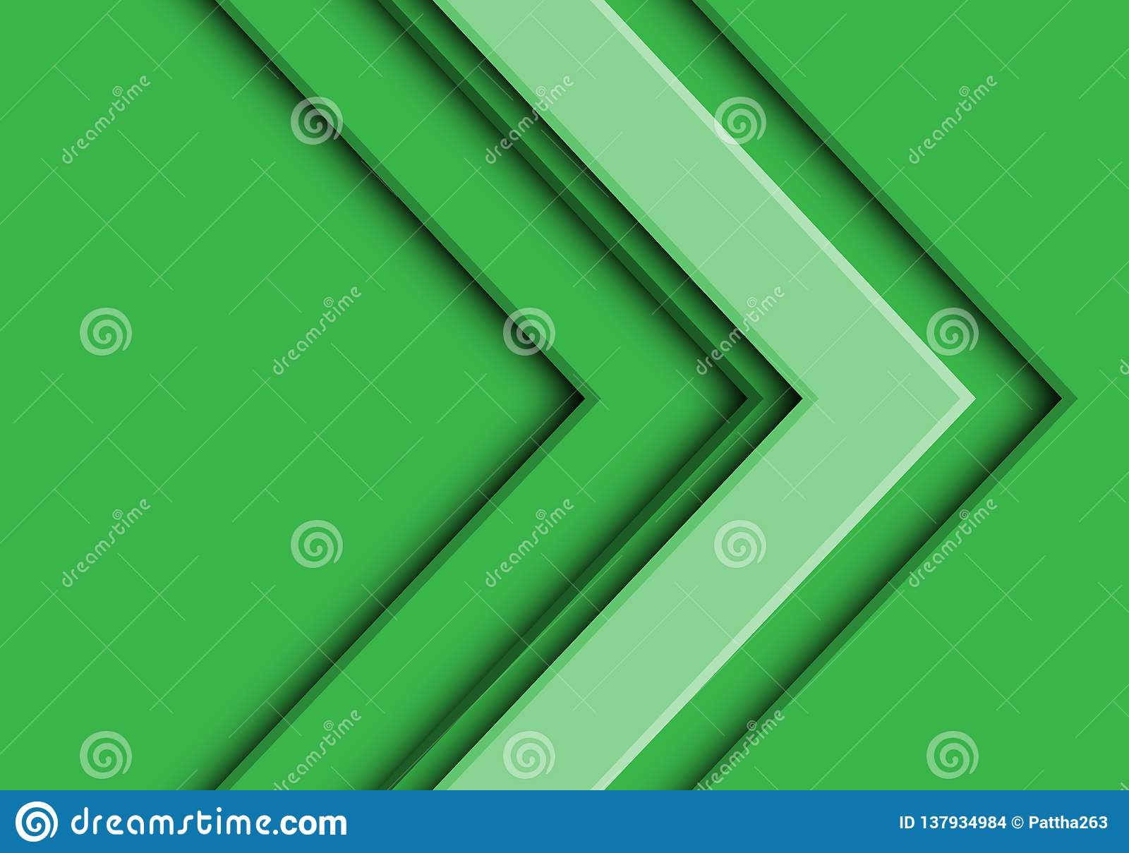 Abstract green tone arrow direction design modern futuristic background vector