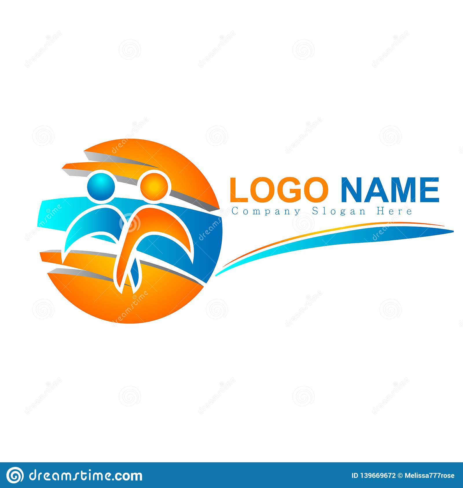 People logos colorful together, team circle 3d new concept, care. family culture vector logo.