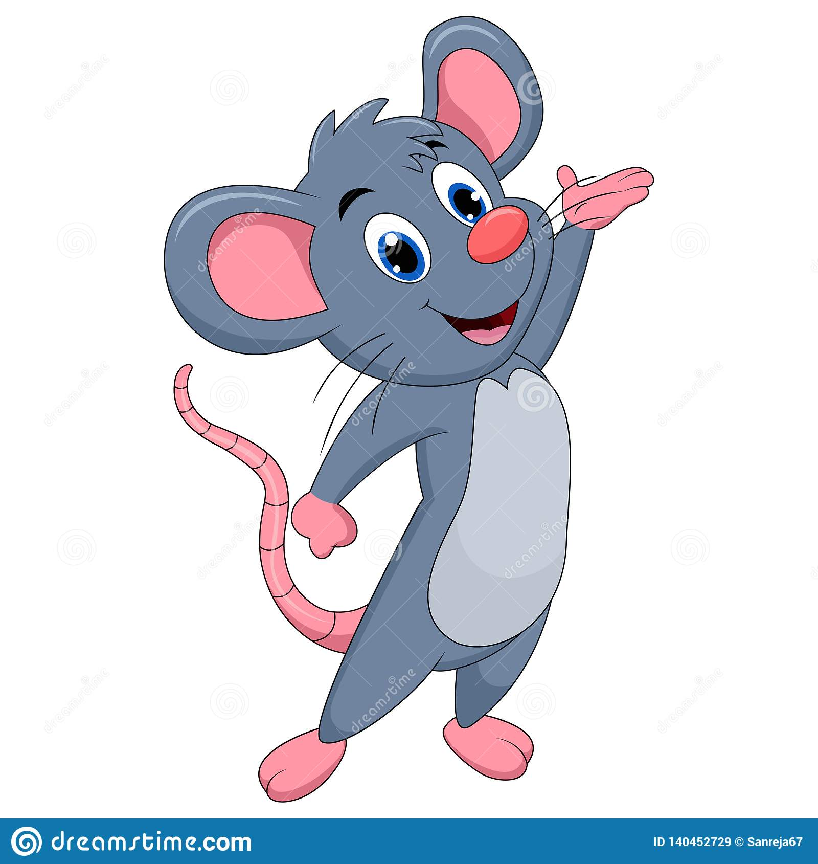 Cute Mouse Cartoon Presenting Stock Vector Illustration Of