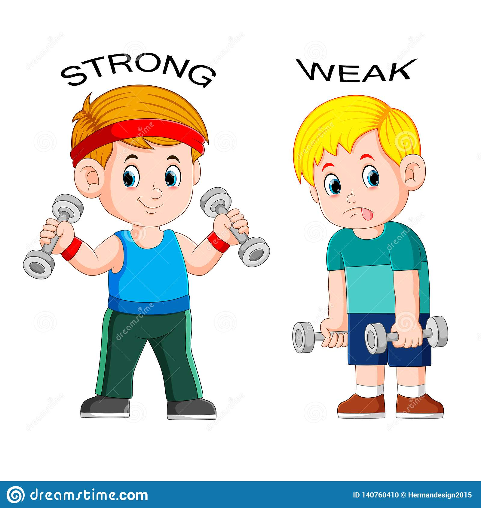Opposite Adjectives Down And Up Cartoon Vector ...