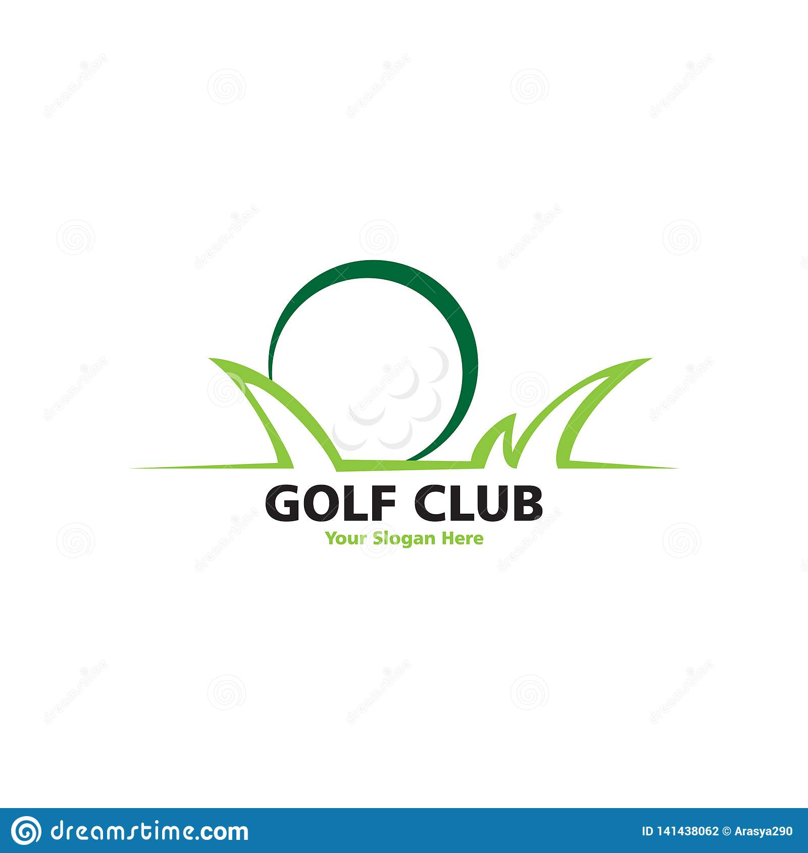 Golf place with grass logo