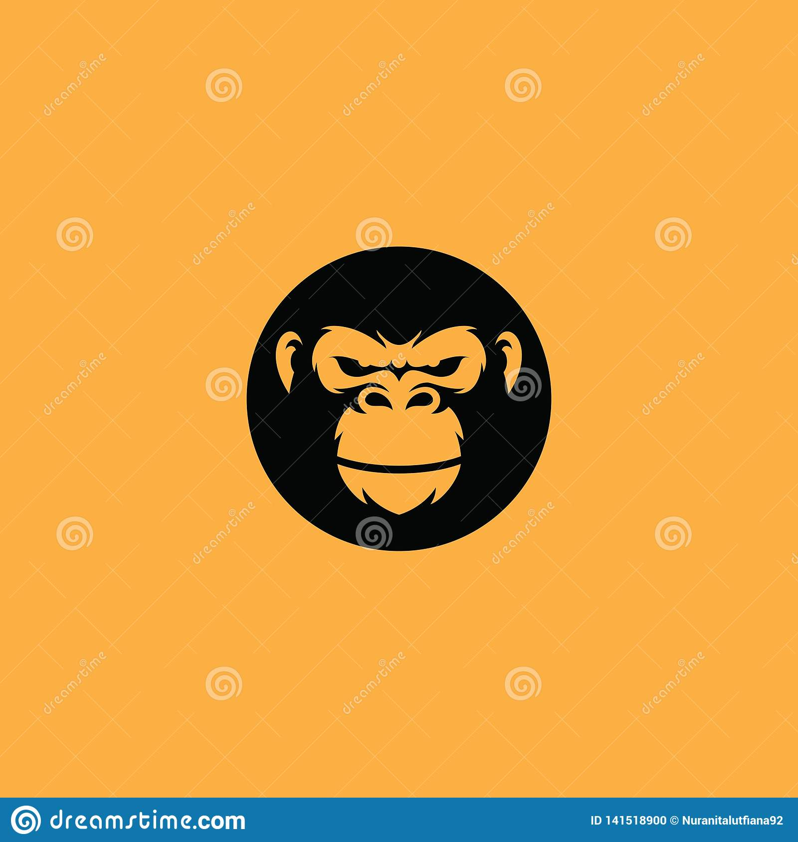 5c861990f Face of gorilla icon vector for logo company, etc. Available on EPS format.  More similar stock illustrations