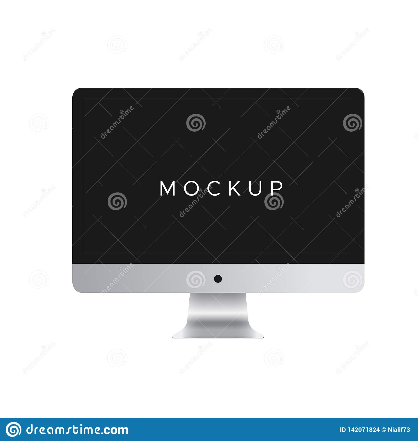 Computer mockup vecter isolated on white background