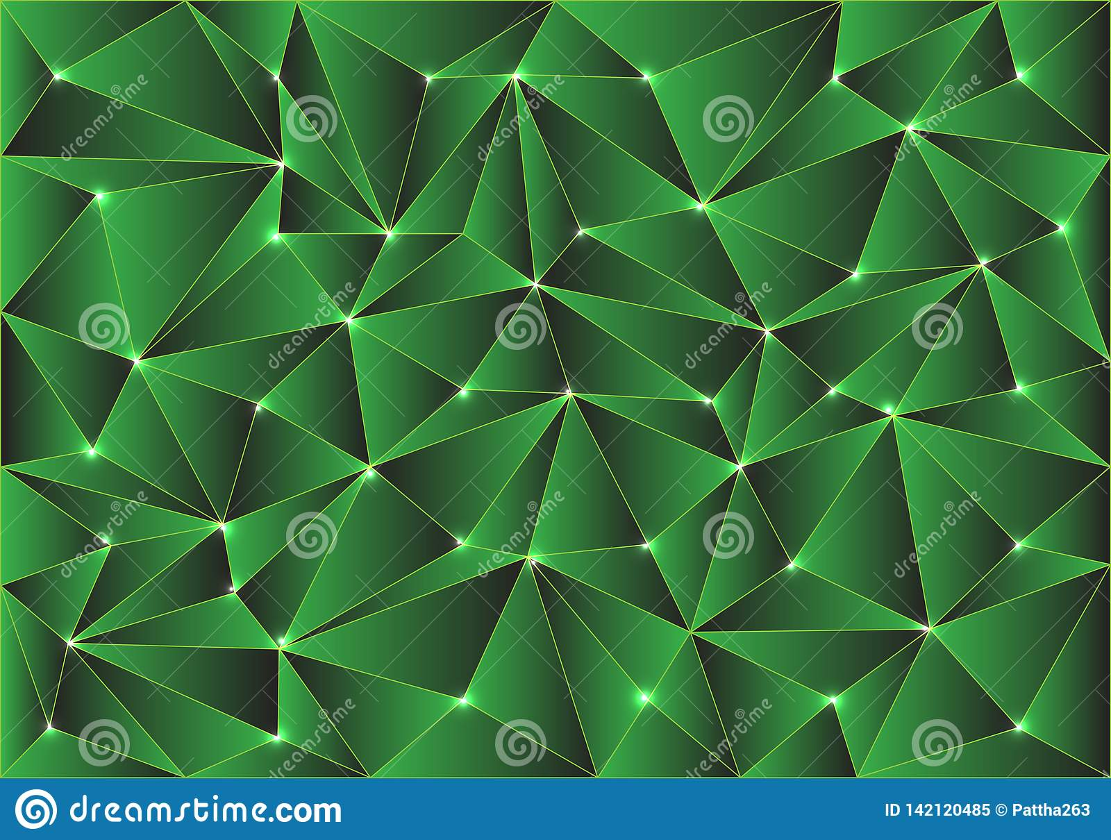 Abstract green glossy polygon pattern design modern background texture vector
