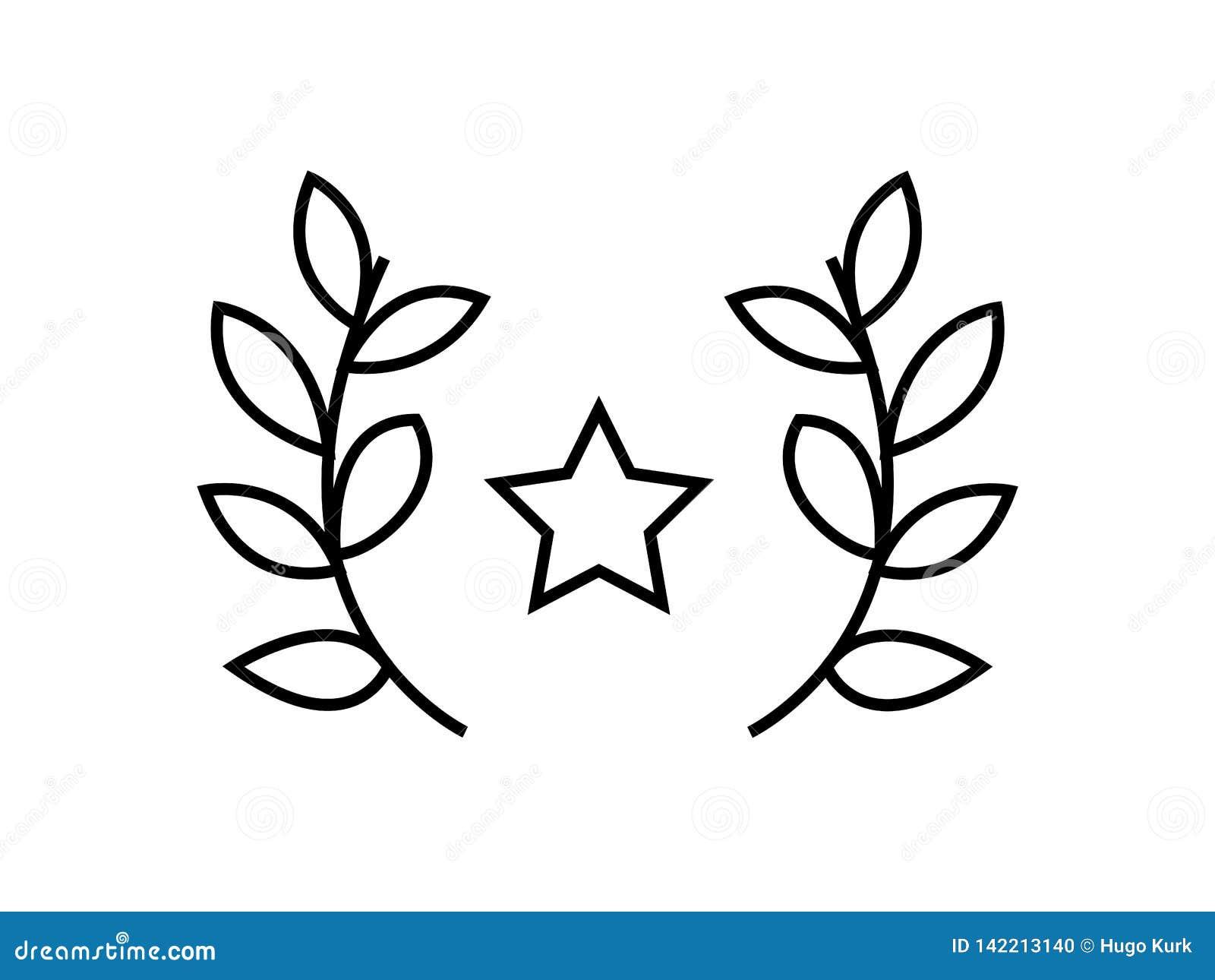 Star prize leaves symbol