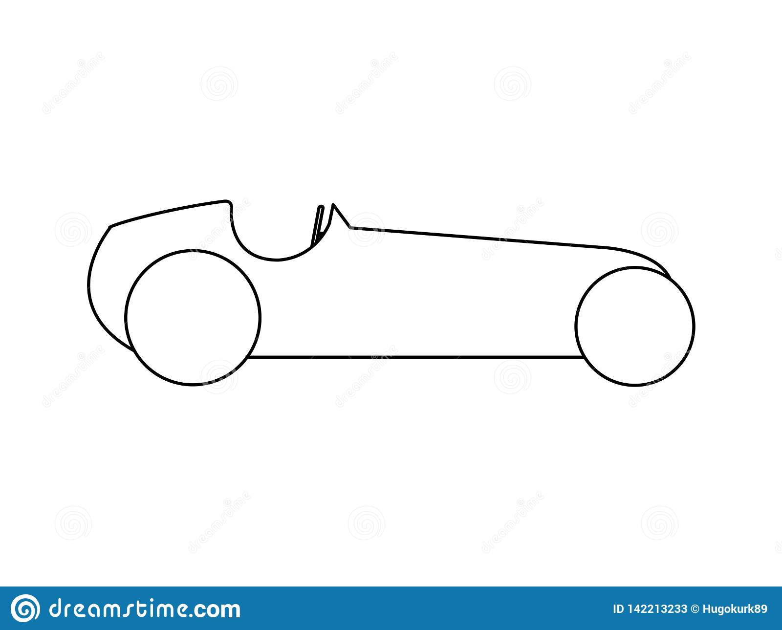 Retro sports car side view stock vector illustration of
