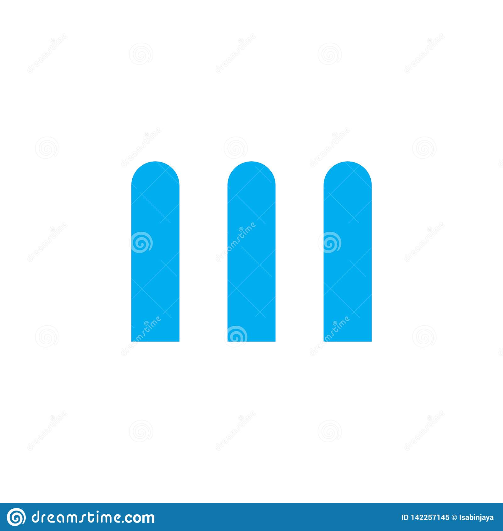 III or M logo letter design