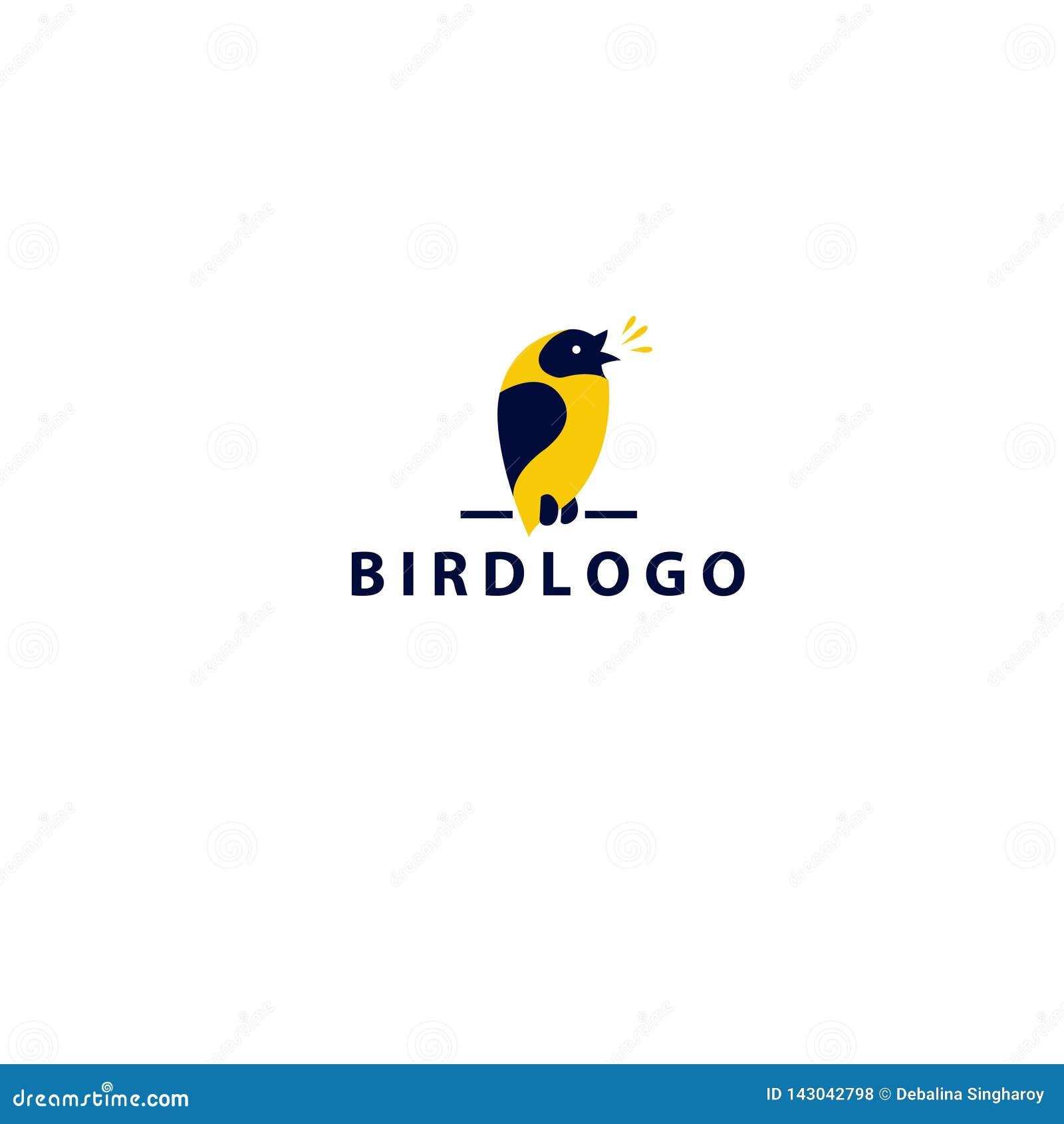 Bird logo design-- Stock vector illustration