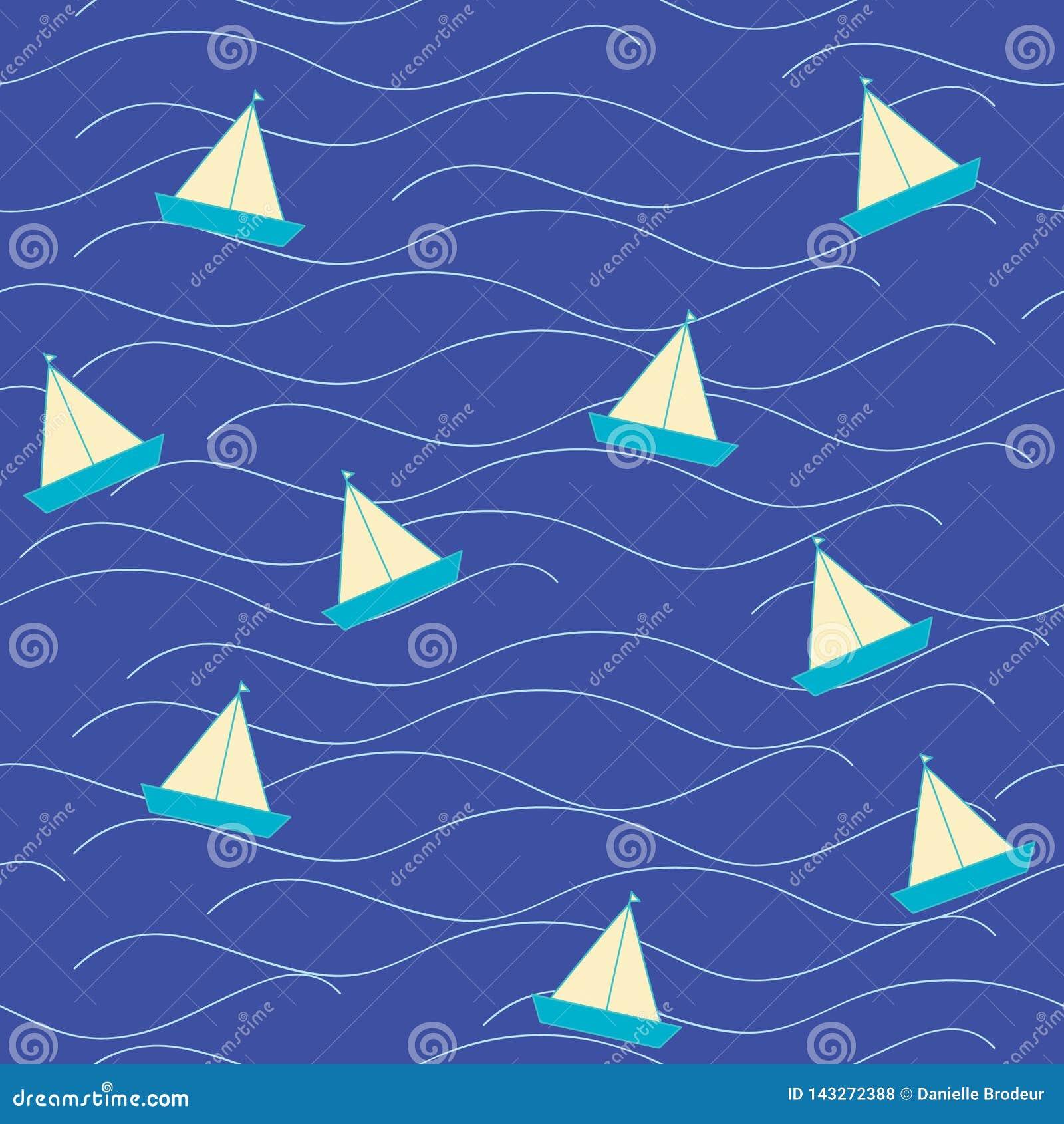 Nautica Origami boat at sea
