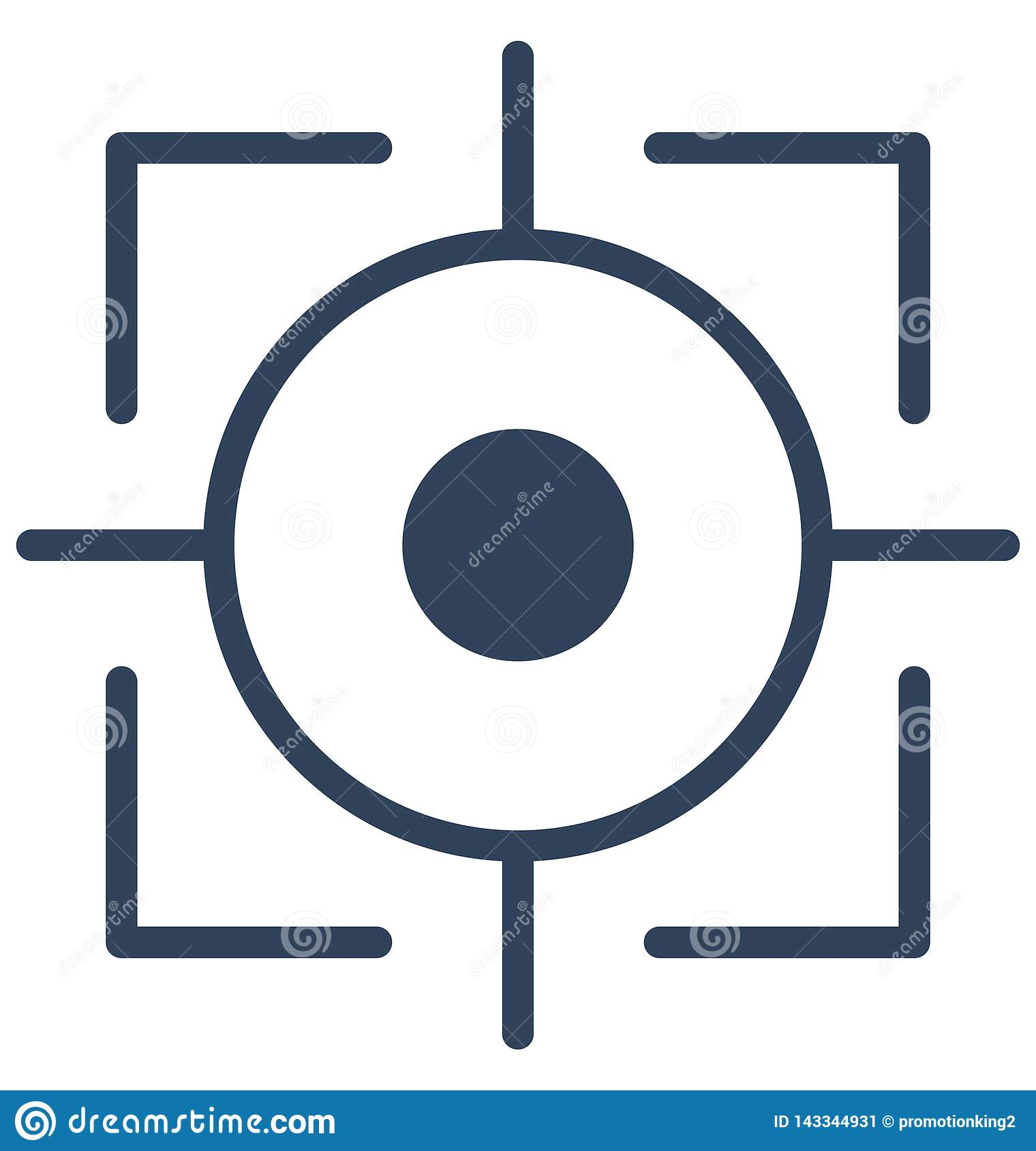 Focus Isolated Vector icon which can easily modify or edit