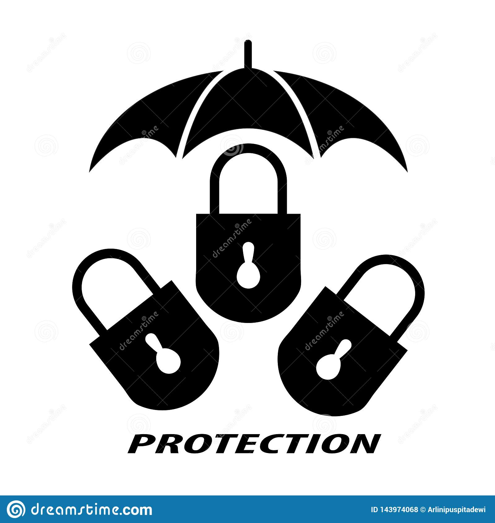 Padlock symbolizes protection
