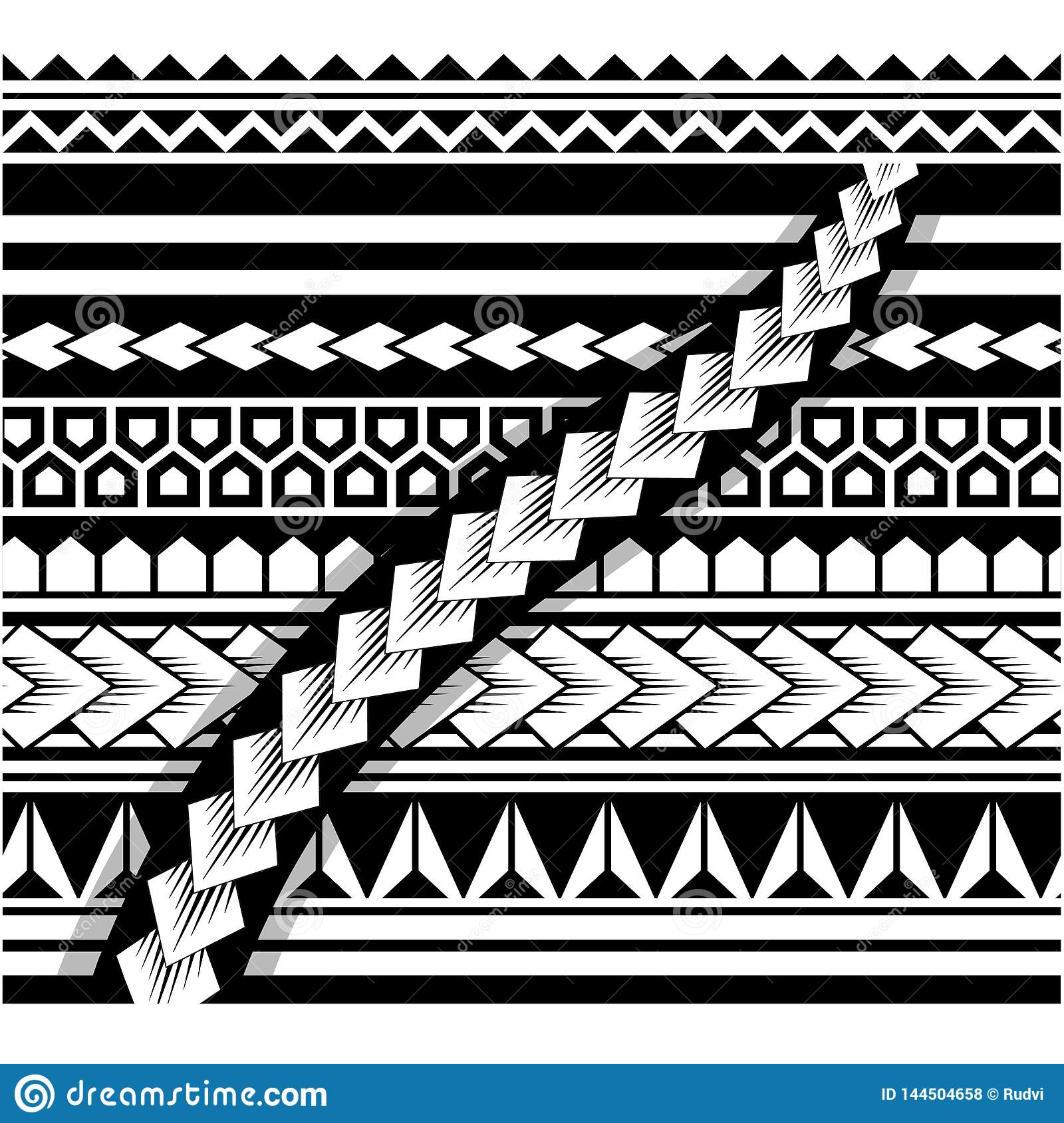 Polynesian Tattoo Sleeve Pattern Samoan Sketch Forearm And Foot