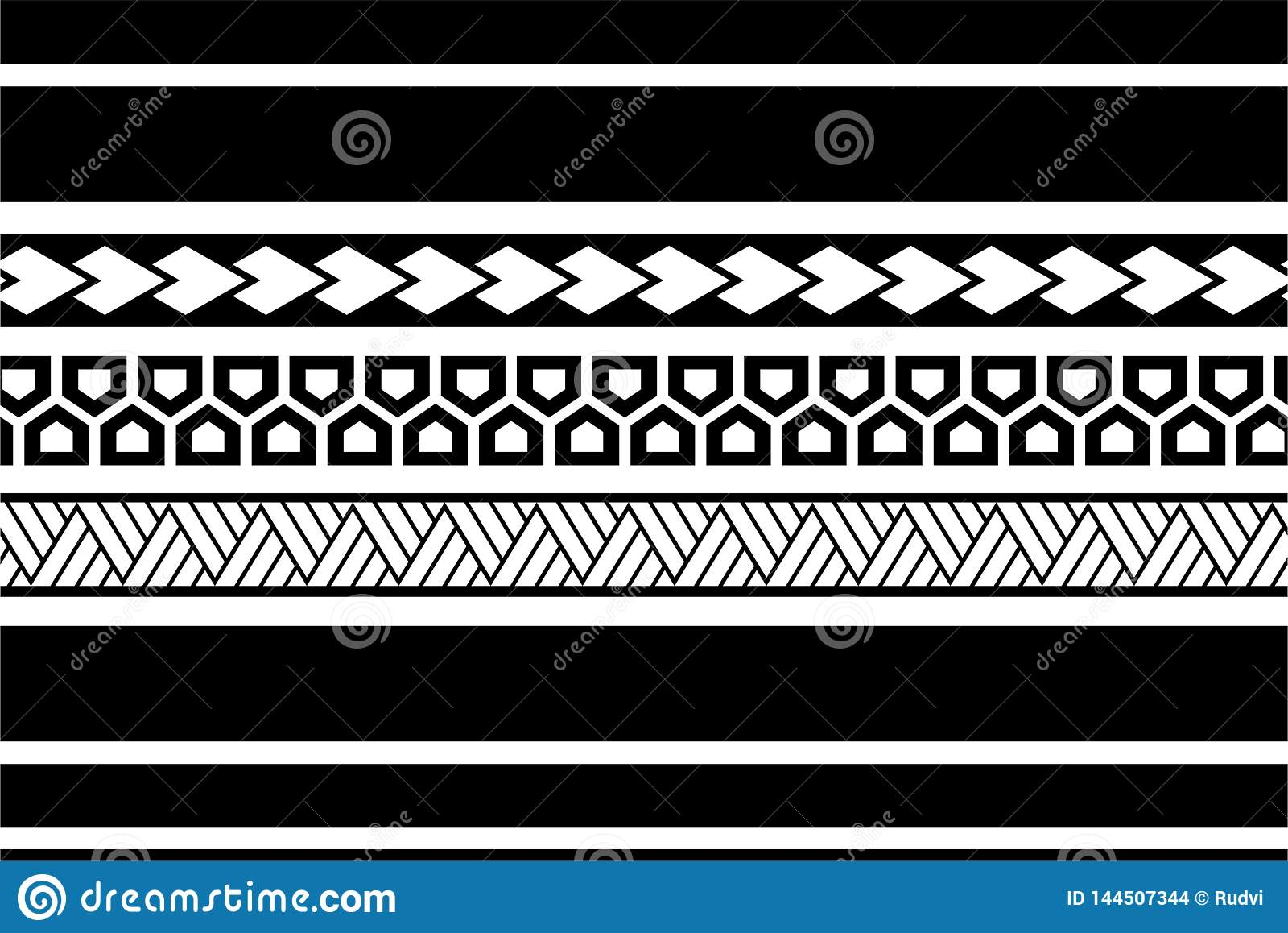foto de Polynesian Tattoo Sleeve Pattern Vector, Samoan Sketch Forearm And ...