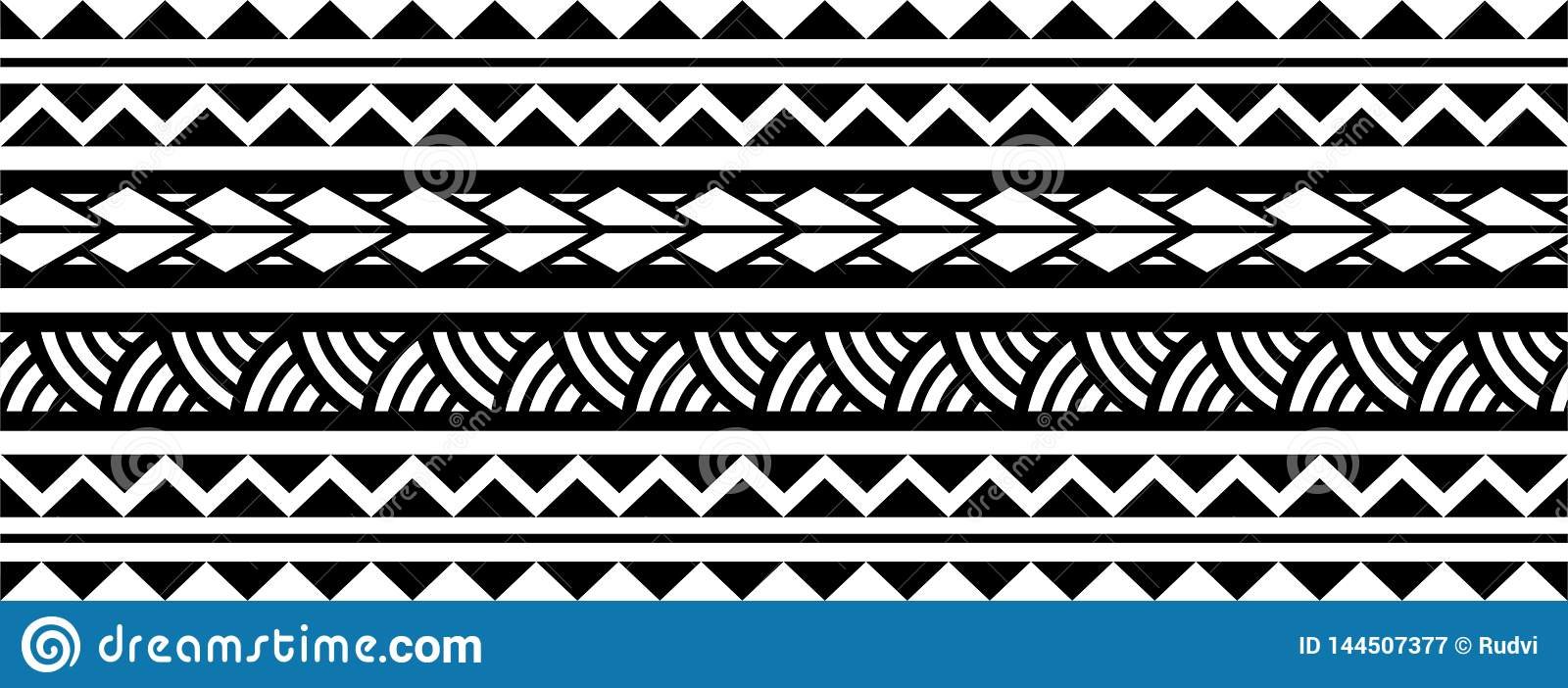 f04a28d3fb343 Polynesian tattoo sleeve pattern vector, samoan sketch forearm and foot  design, maori stencil bracelet armband tattoo tribal, band fabric template  seamless ...