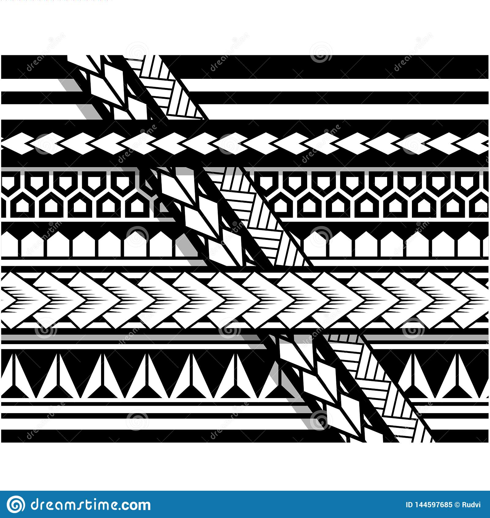 5062b74233058 Polynesian tattoo sleeve pattern , samoan sketch forearm and foot design, maori  stencil bracelet armband tattoo tribal, band fabric template seamless ...