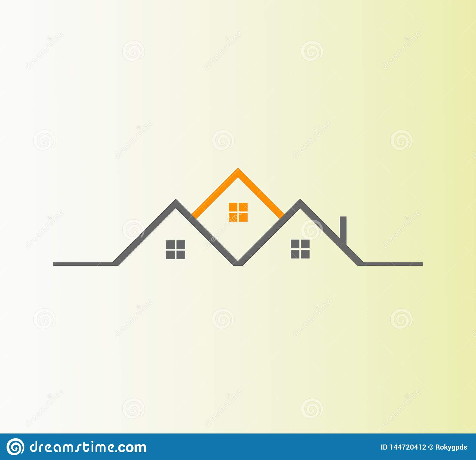 Vector Real Estate Logo Design.Best  abstract real estate icon logo