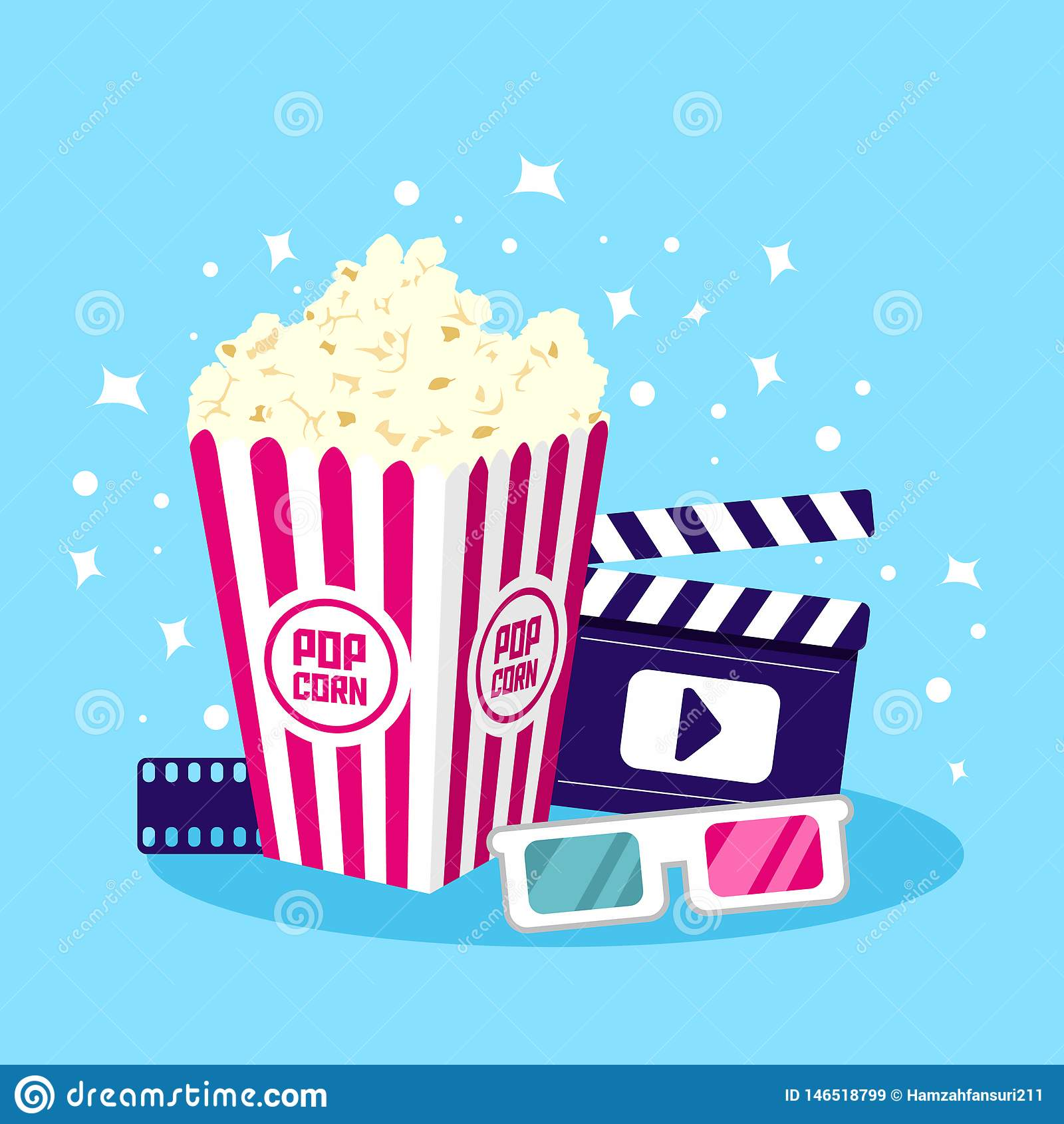 Movie Icon Vector Illustration. Item for Cinema and Film