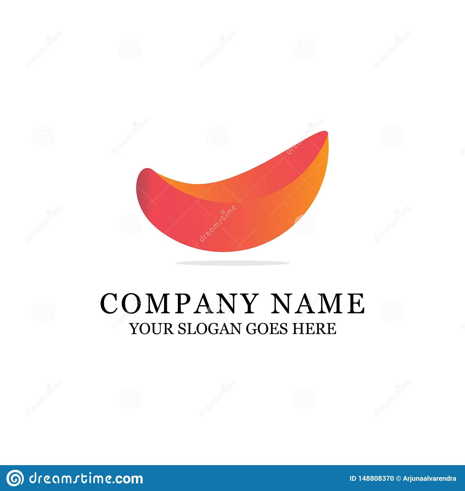 Modern Abstract logo design, orange gradient