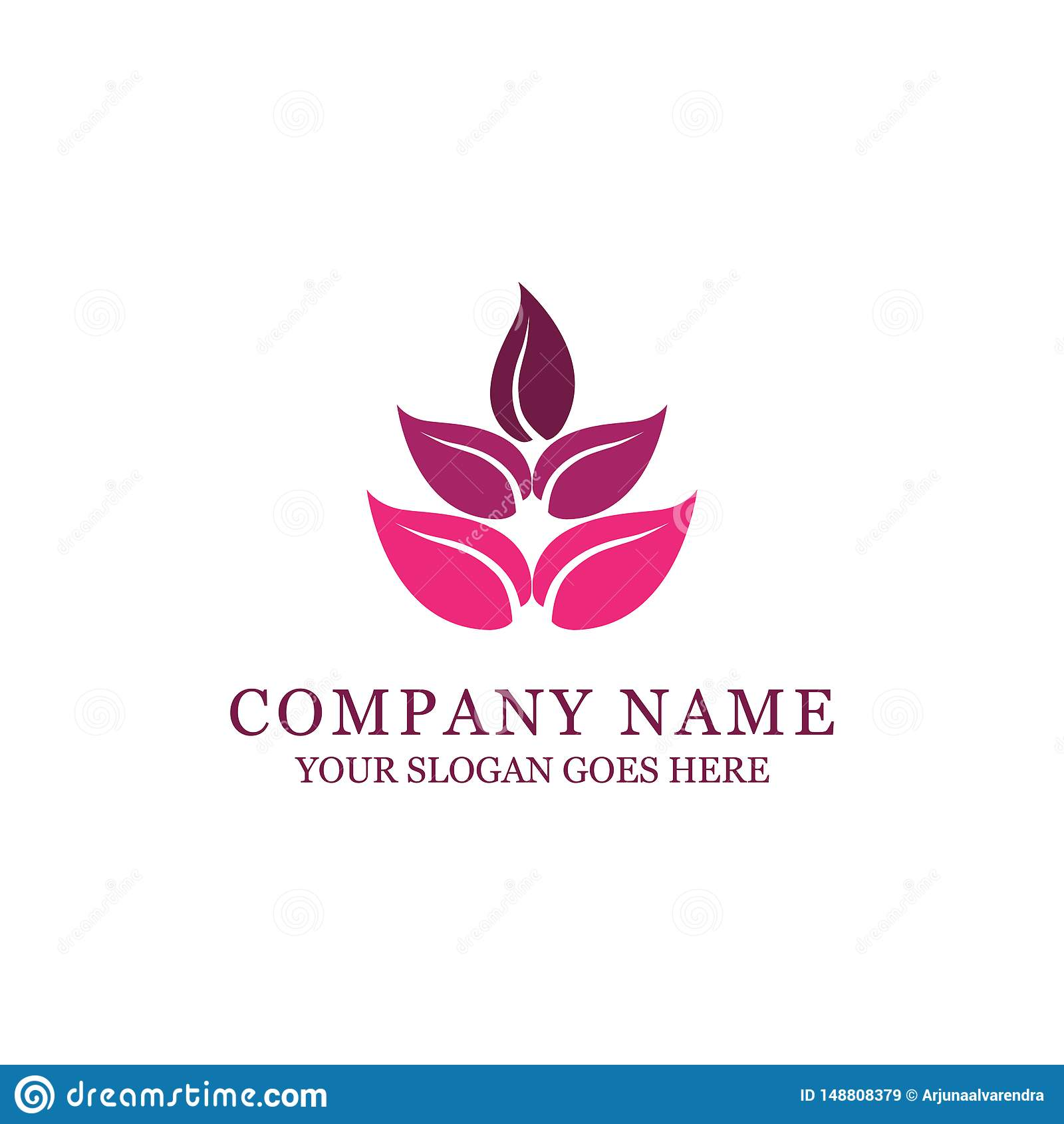Spa and fashion style logo design with abstract flower