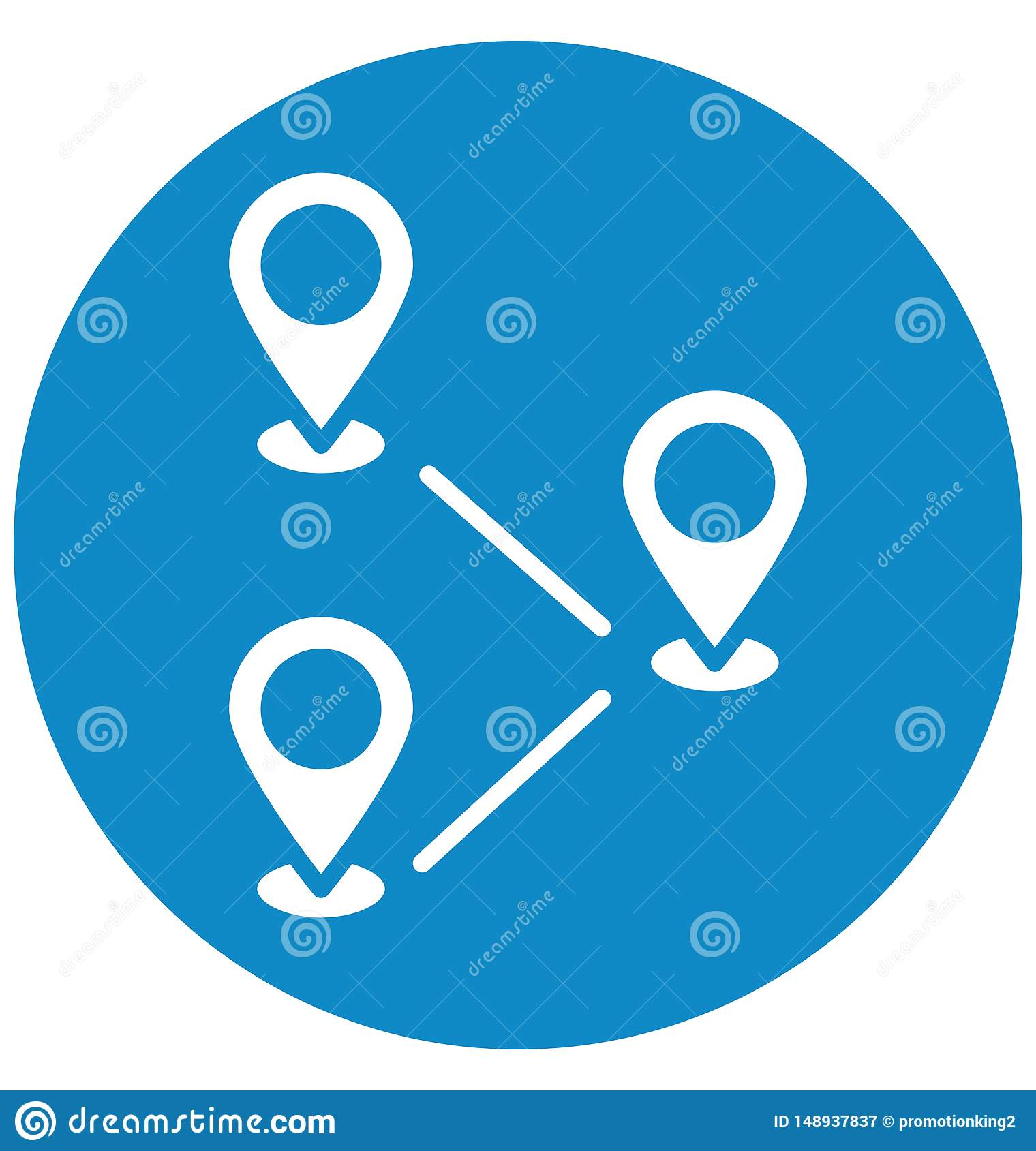 Destinations Isolated Vector Icon which can easily modify or edit