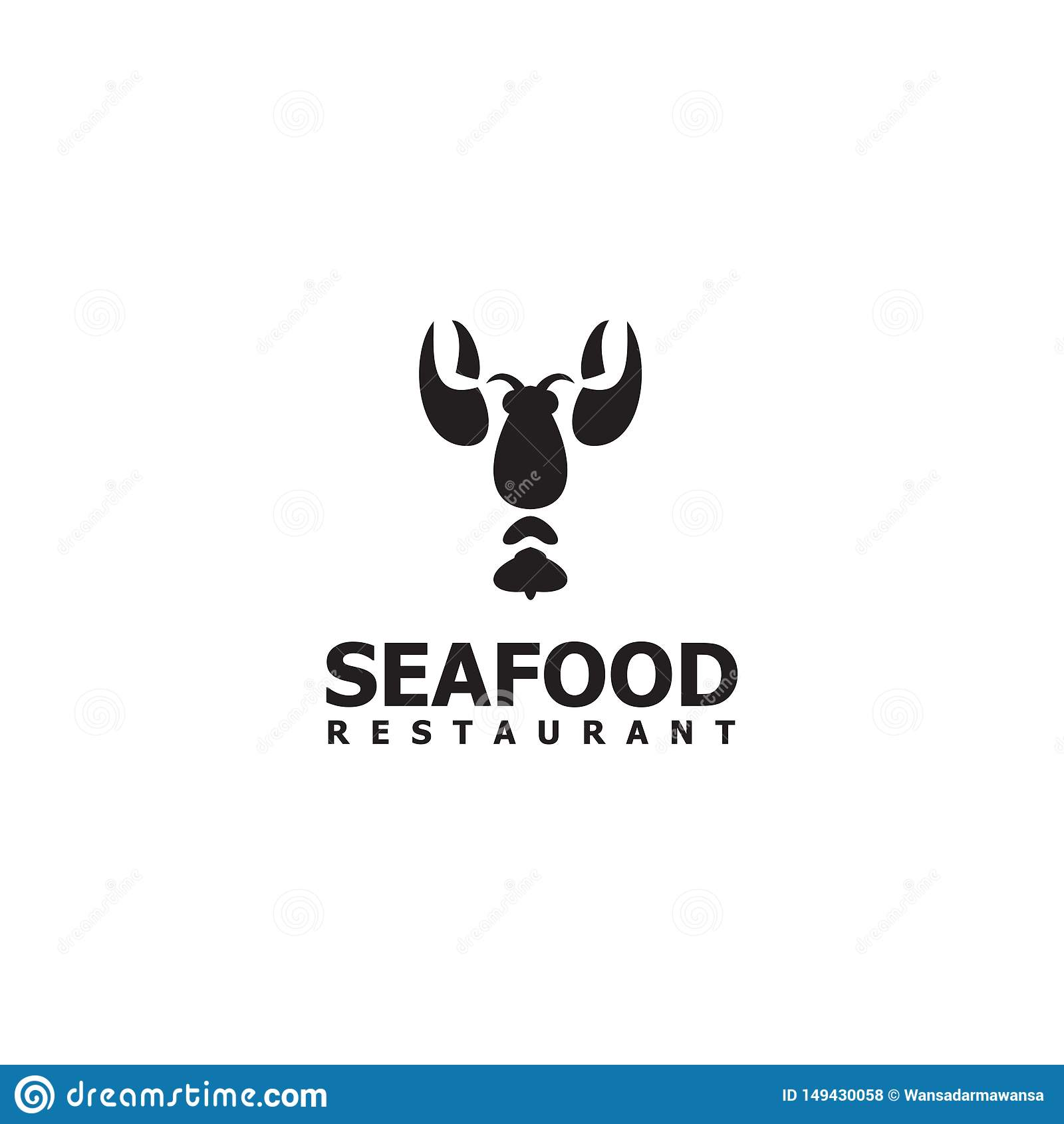 Seafood Restaurant Logo Design Vector Template Stock Vector Illustration Of Line Elegant 149430058