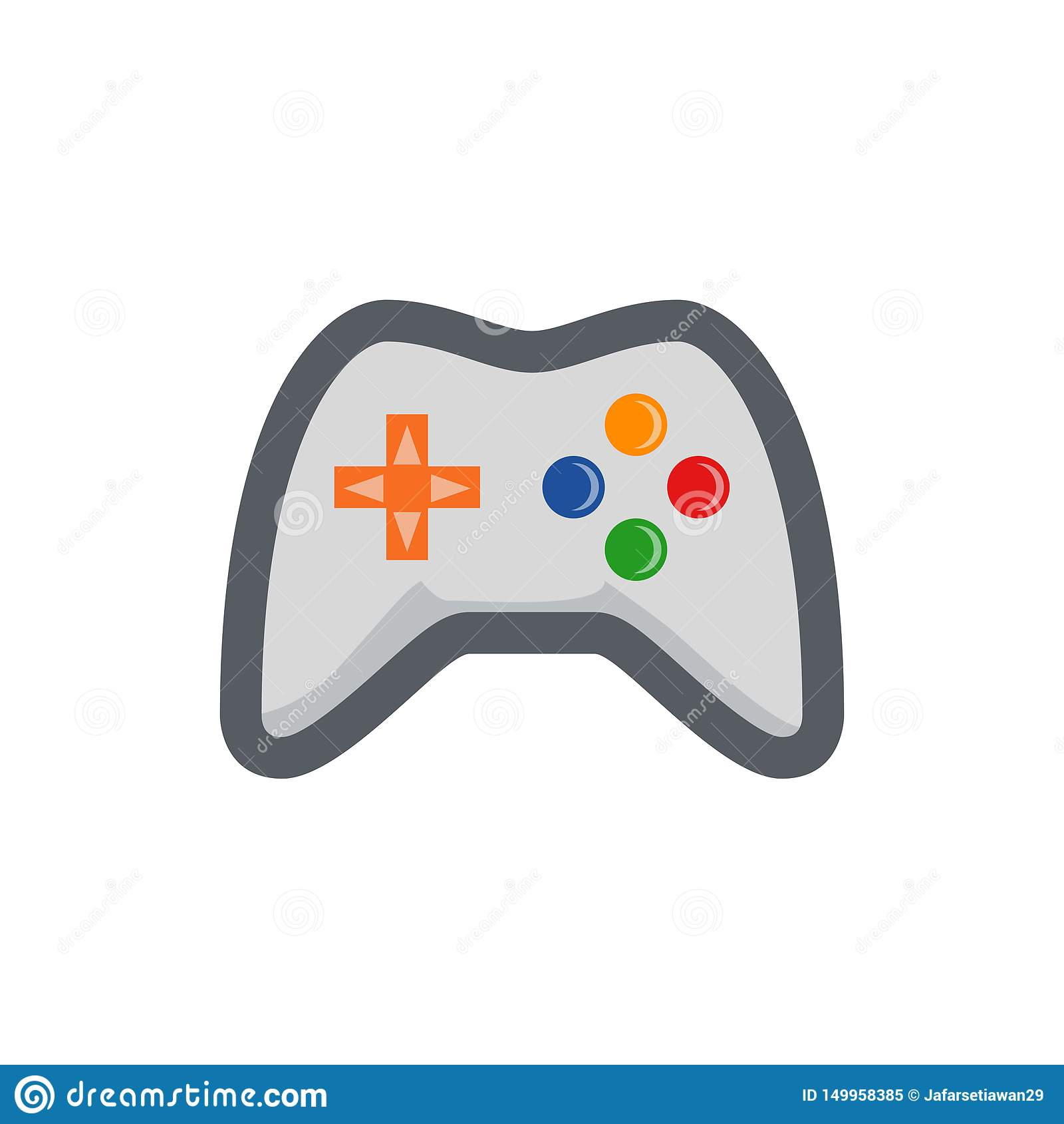 Colored game icons for dark backgrounds,
