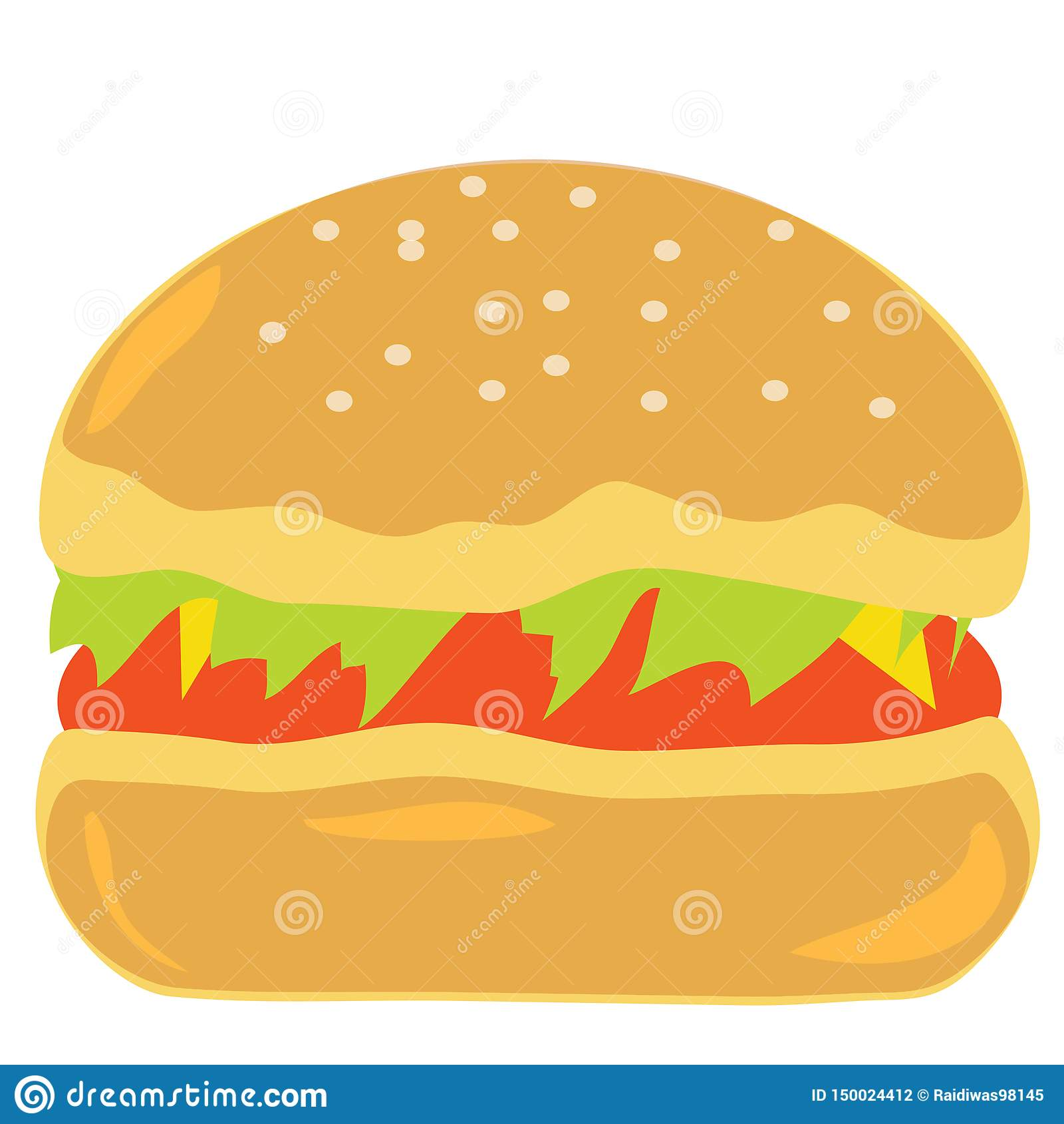 Fast food burger is tasty.