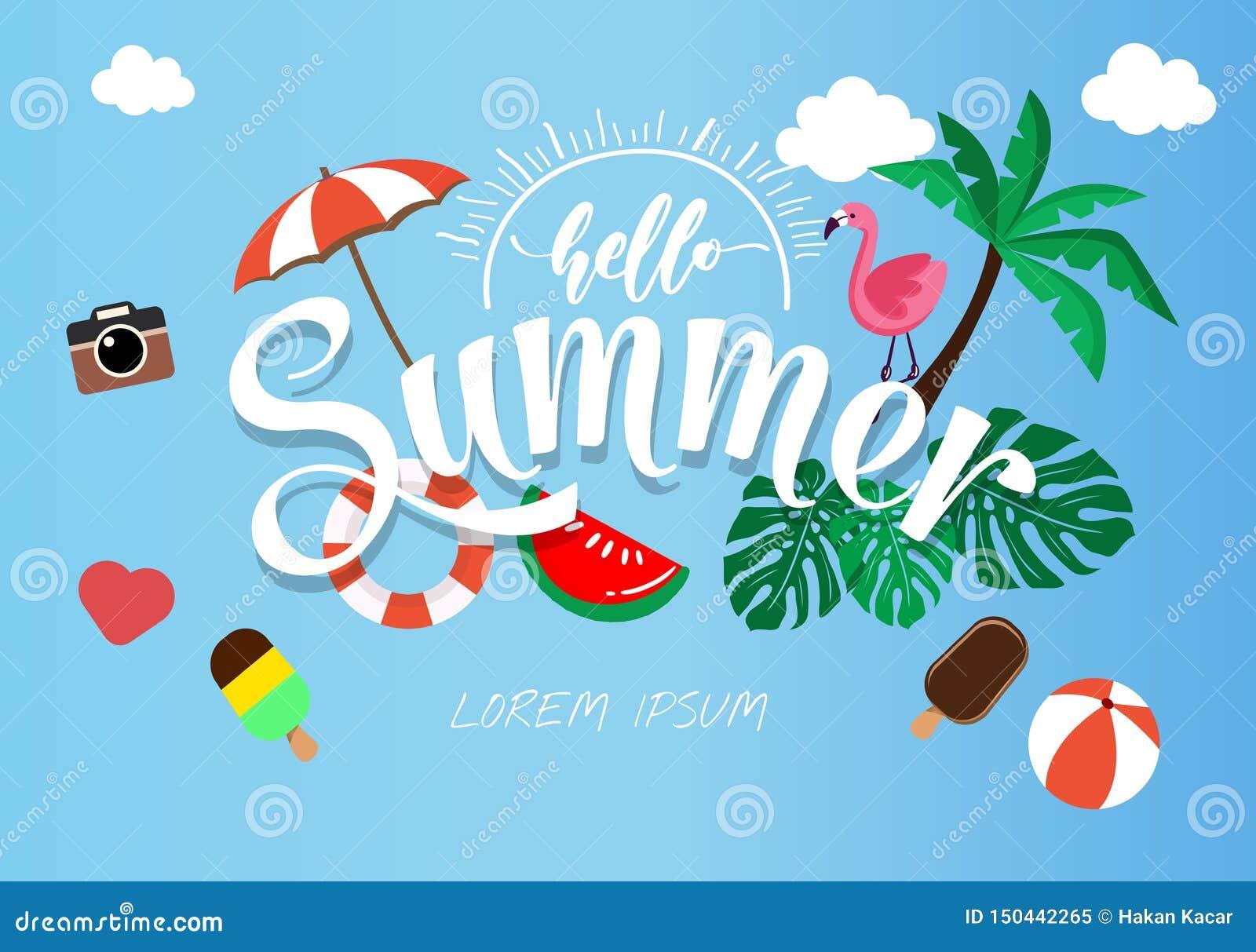 Spring Summer poster, banner vector illustration and design for poster card vector,
